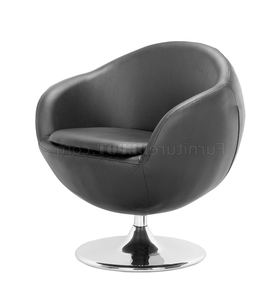 Famous Espresso Leather Swivel Chairs Within Black, White Or Espresso Leatherette Contemporary Swivel Chair (View 18 of 20)