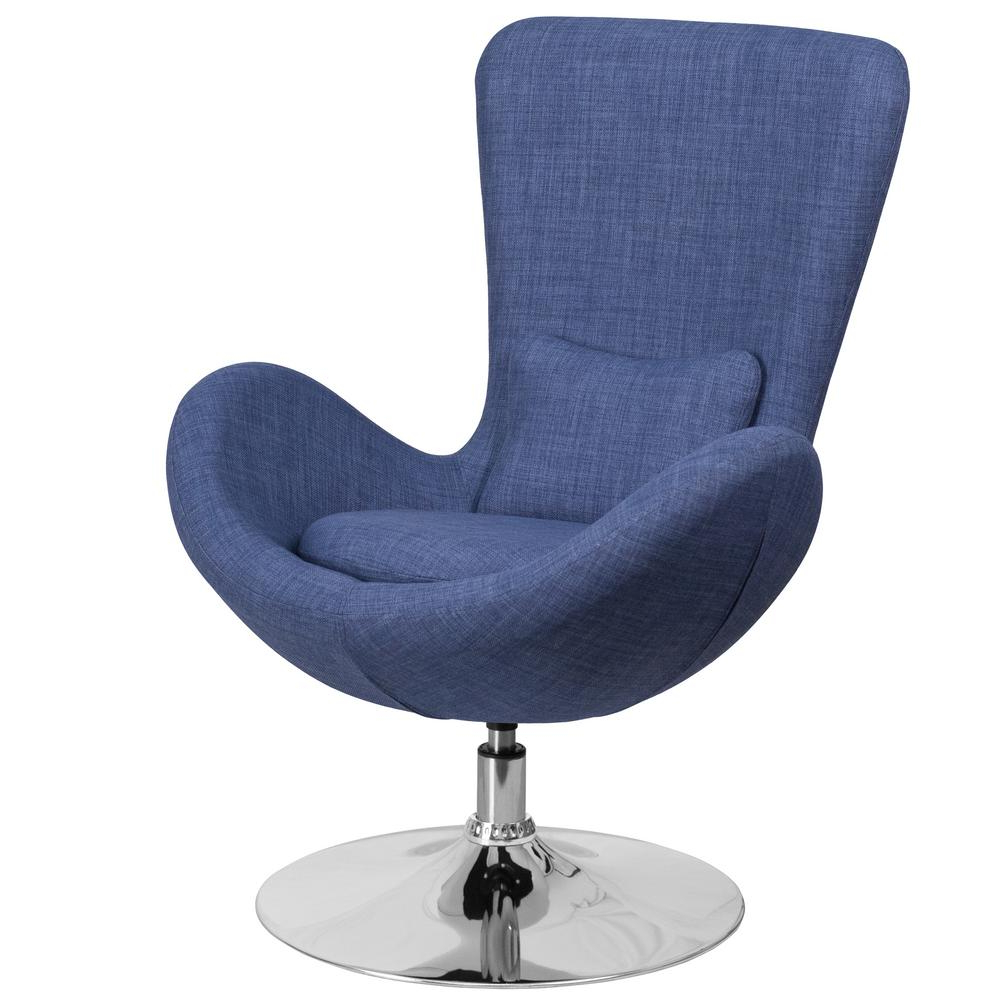 Famous Katrina Blue Swivel Glider Chairs In Swivel – Accent Chairs – Chairs – The Home Depot (Gallery 12 of 20)