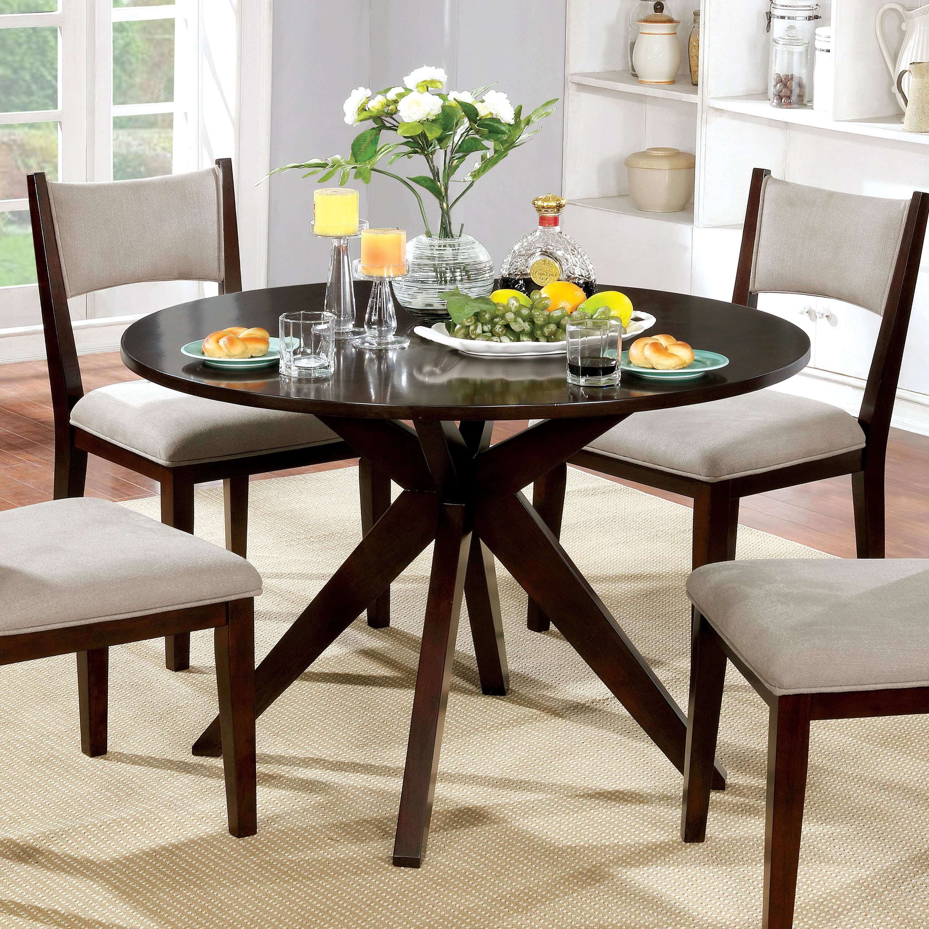Famous Kiara Sofa Chairs Regarding Shop Furniture Of America Kiara Mid Century Modern Brown Cherry Wood (View 18 of 20)