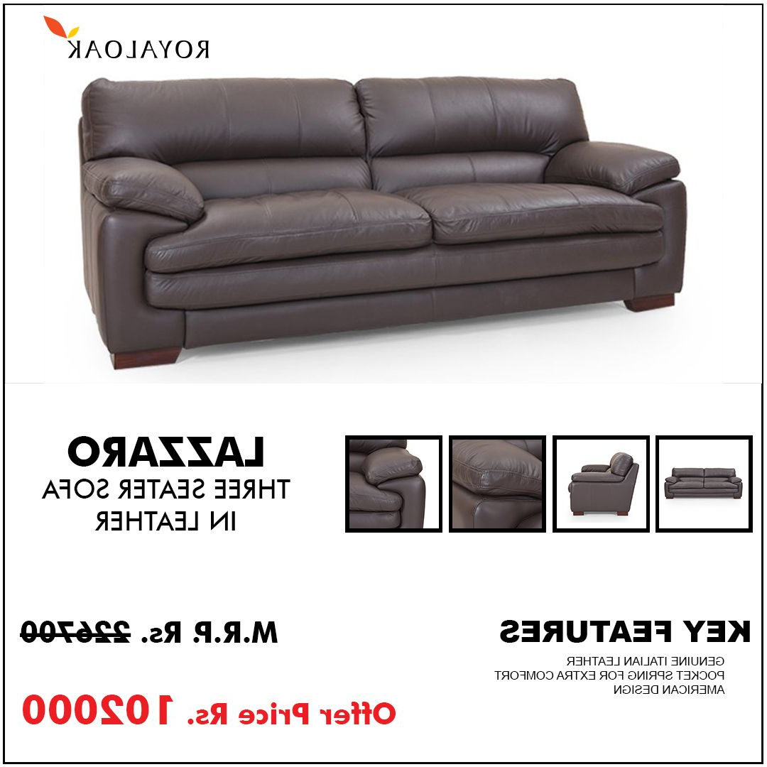 Famous Pinroyaloak Furniture On Royaloak Three Seater Recliner In Moana Taupe Leather Power Reclining Sofa Chairs With Usb (View 7 of 20)