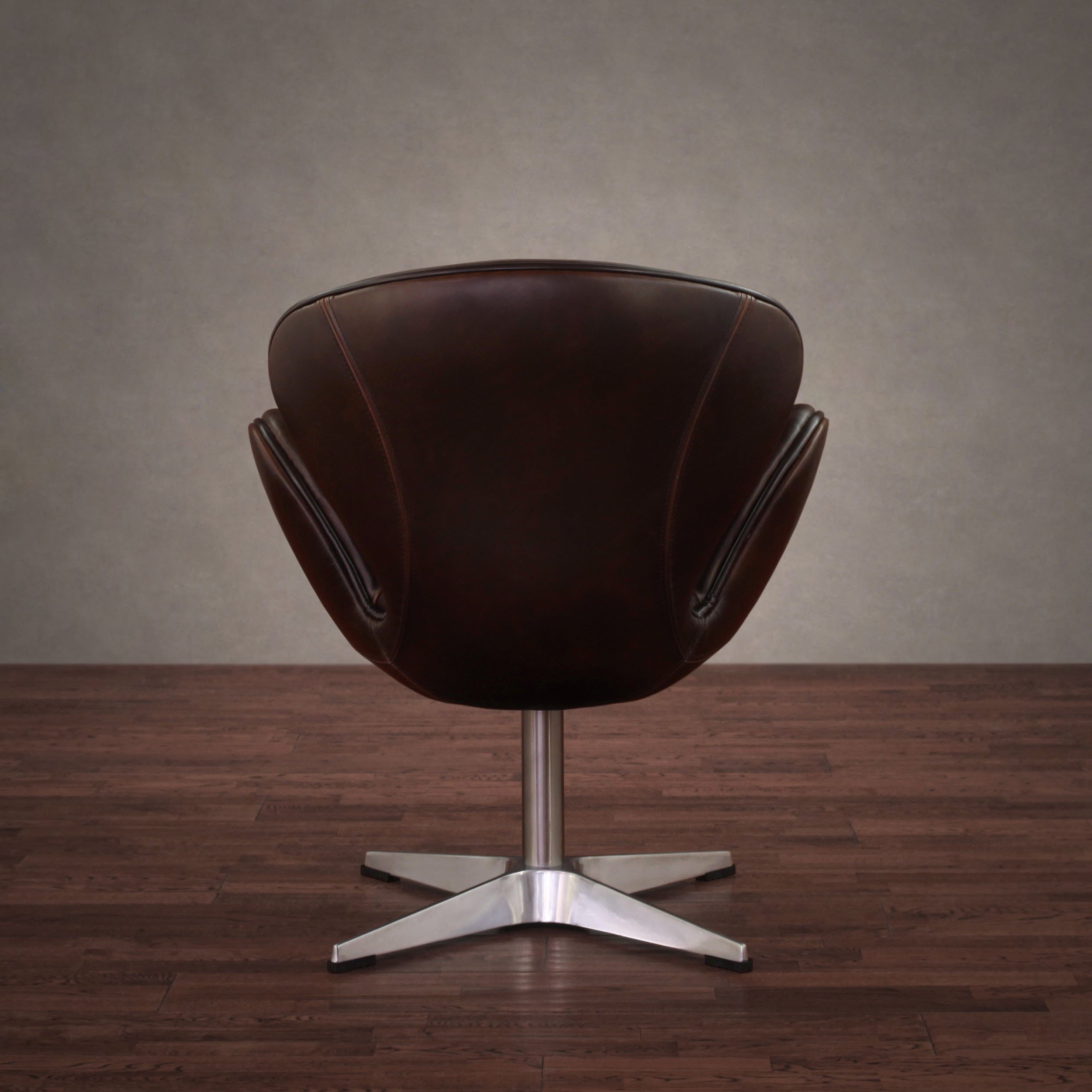 Famous Shop Amelia Vintage Tobacco Leather Swivel Chair – Free Shipping Intended For Swivel Tobacco Leather Chairs (View 3 of 20)