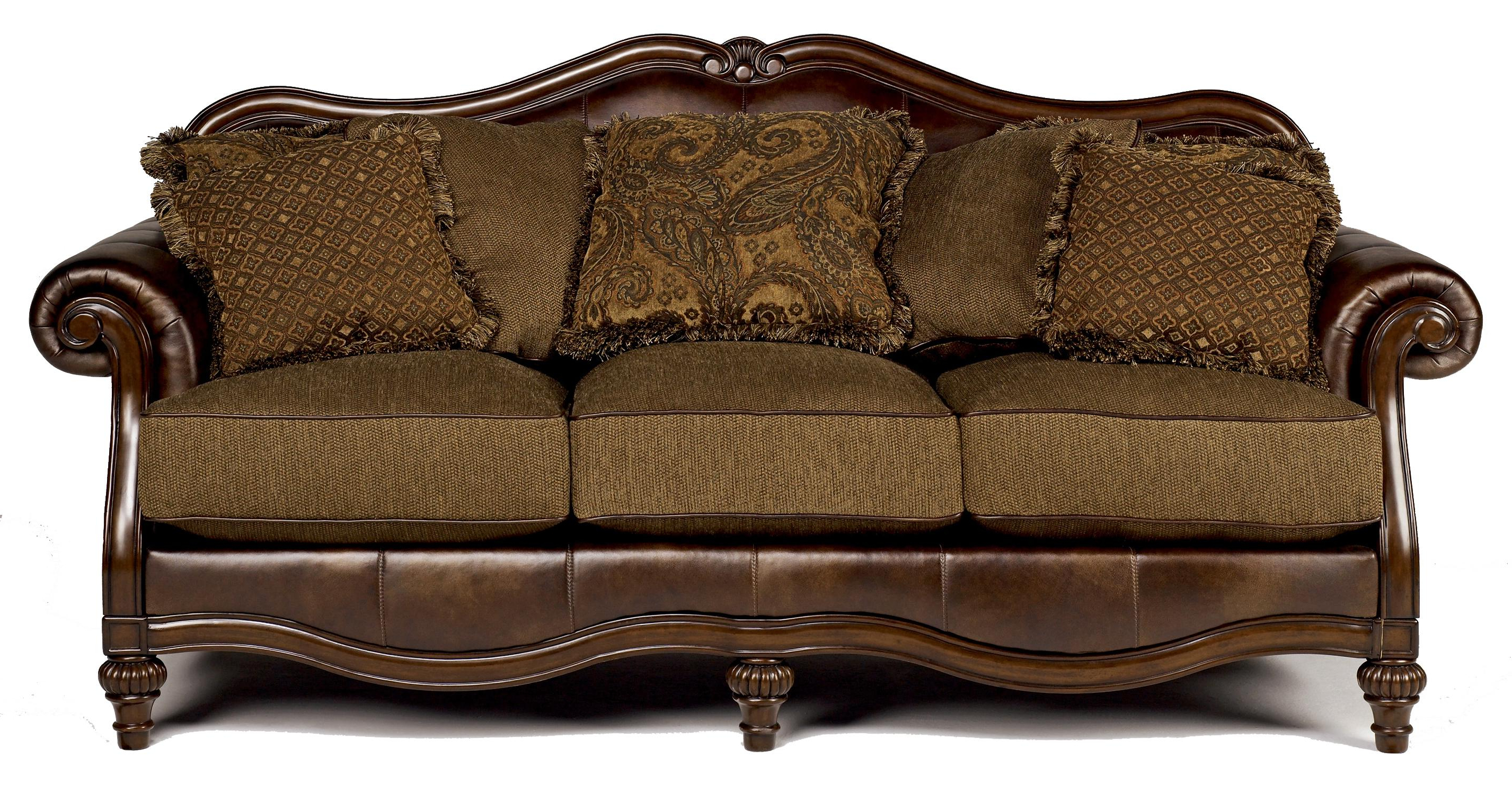 Famous Signature Designashley Claremore – Antique Traditional Two Toned With Regard To Antique Sofa Chairs (Gallery 1 of 20)