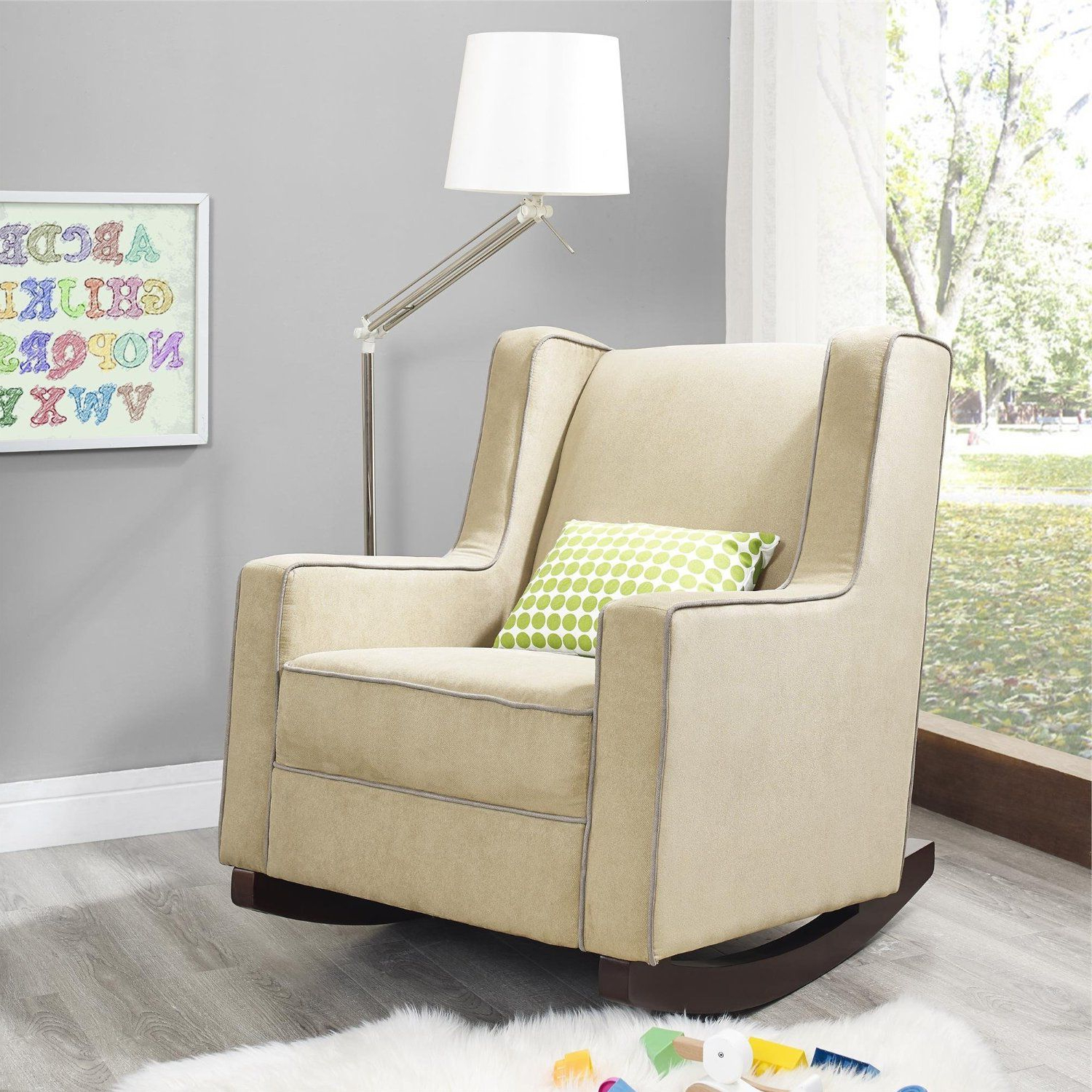 Fashionable Abbey Swivel Glider Recliners With Amazon – Baby Relax The Abby Nursery Rocker Chair, Beige (View 12 of 20)