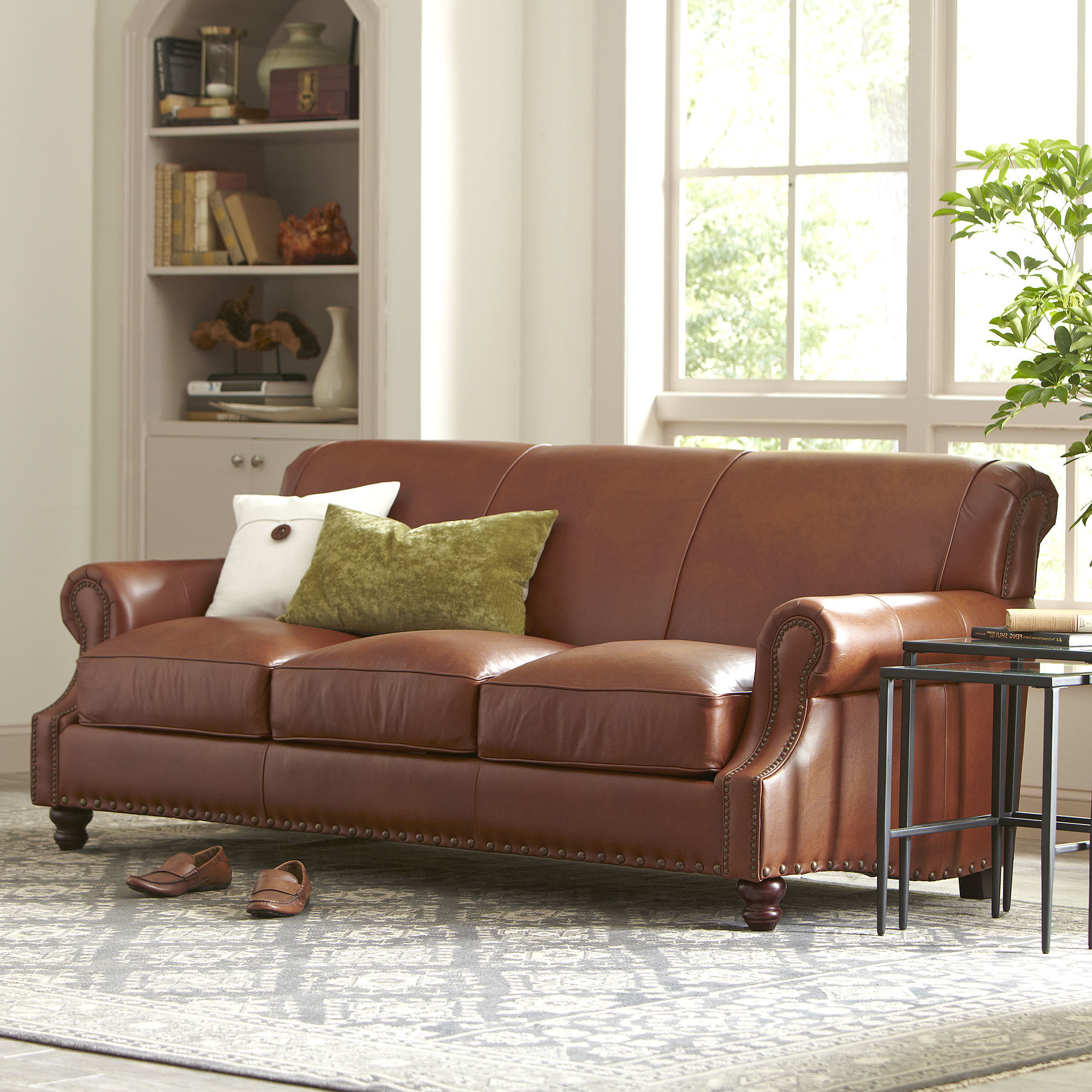 Fashionable Birch Lane™ Landry Leather Sofa & Reviews (View 2 of 20)