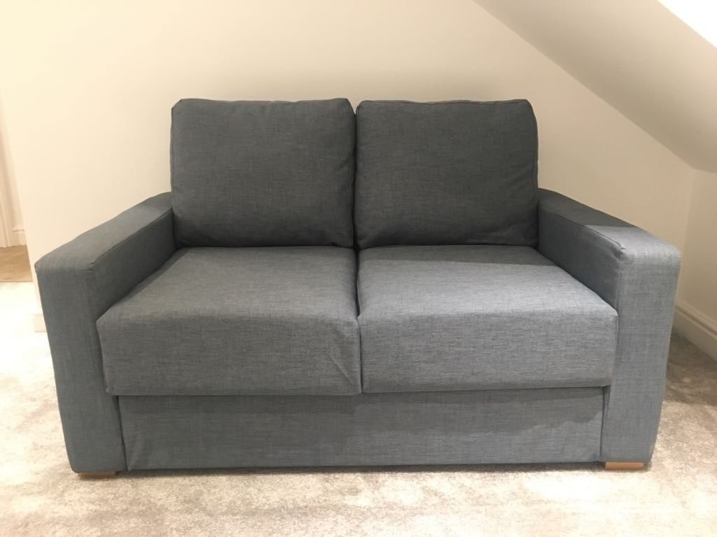 Fashionable Cheap Single Sofa Bed Chairs In Like New Nabru Single Sofa Bed In Blue (View 13 of 20)