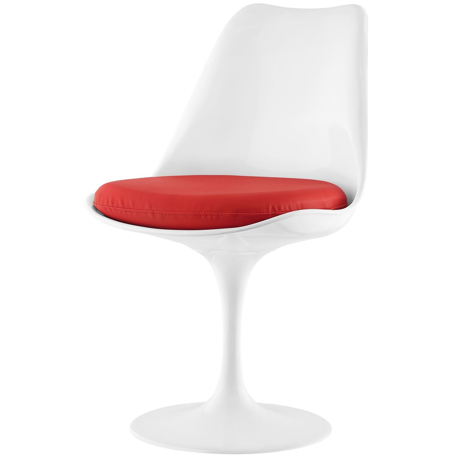 Fashionable Circuit Swivel Accent Chairs In Modway Lippa Vinyl Dining Side Chair (Red) (Plastic) (Gallery 12 of 20)