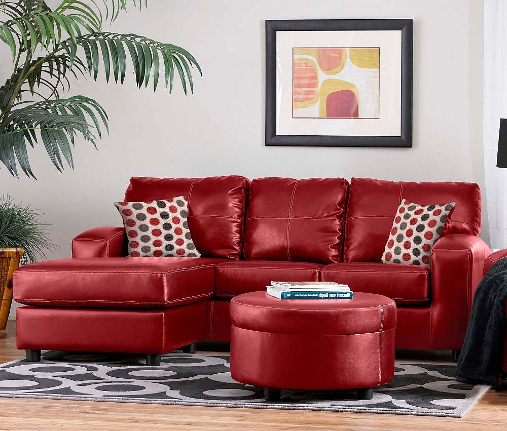 Fashionable Red Sofas And Chairs With Contemporary Red Couch Decorating Ideas And The Beautiful Interior (Gallery 1 of 20)
