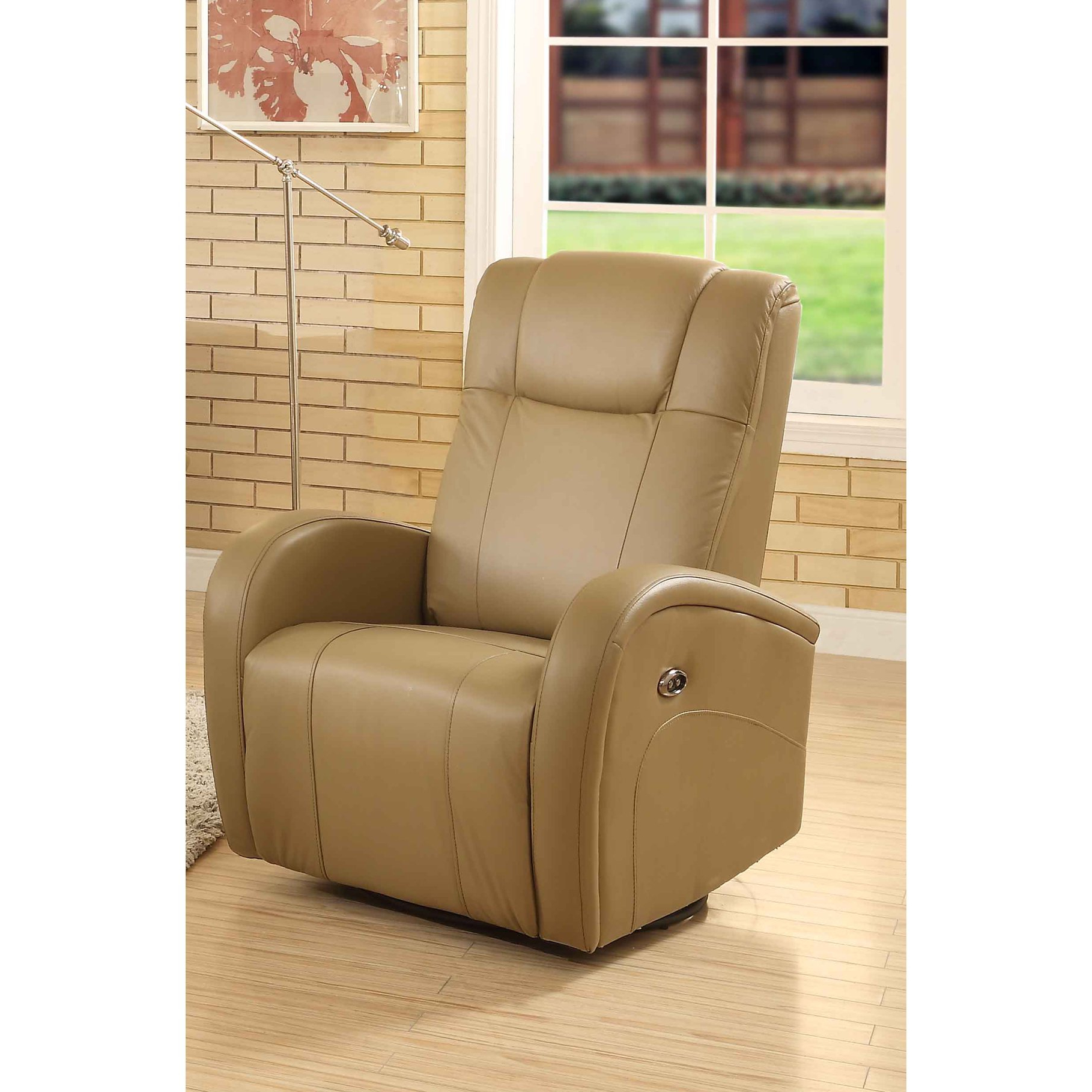 Fashionable Shop Easy Living Swiss Leather Swivel Power Glider Recliner With Usb With Gannon Linen Power Swivel Recliners (View 16 of 20)