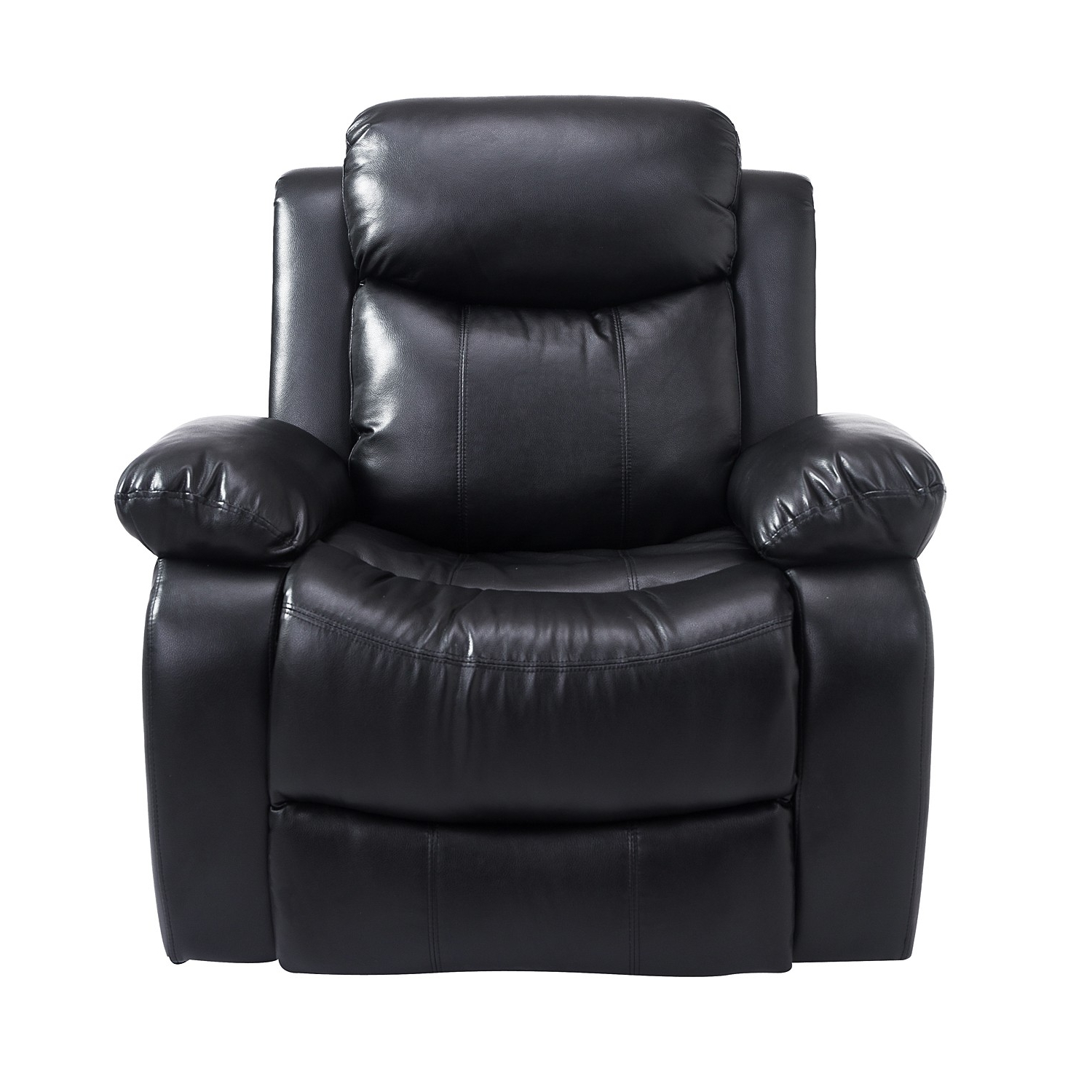 Fashionable Sofa Chair Recliner For Homcom Deluxe Electronic Heated Massage Sofa Recliner Chair Leather (Gallery 6 of 20)