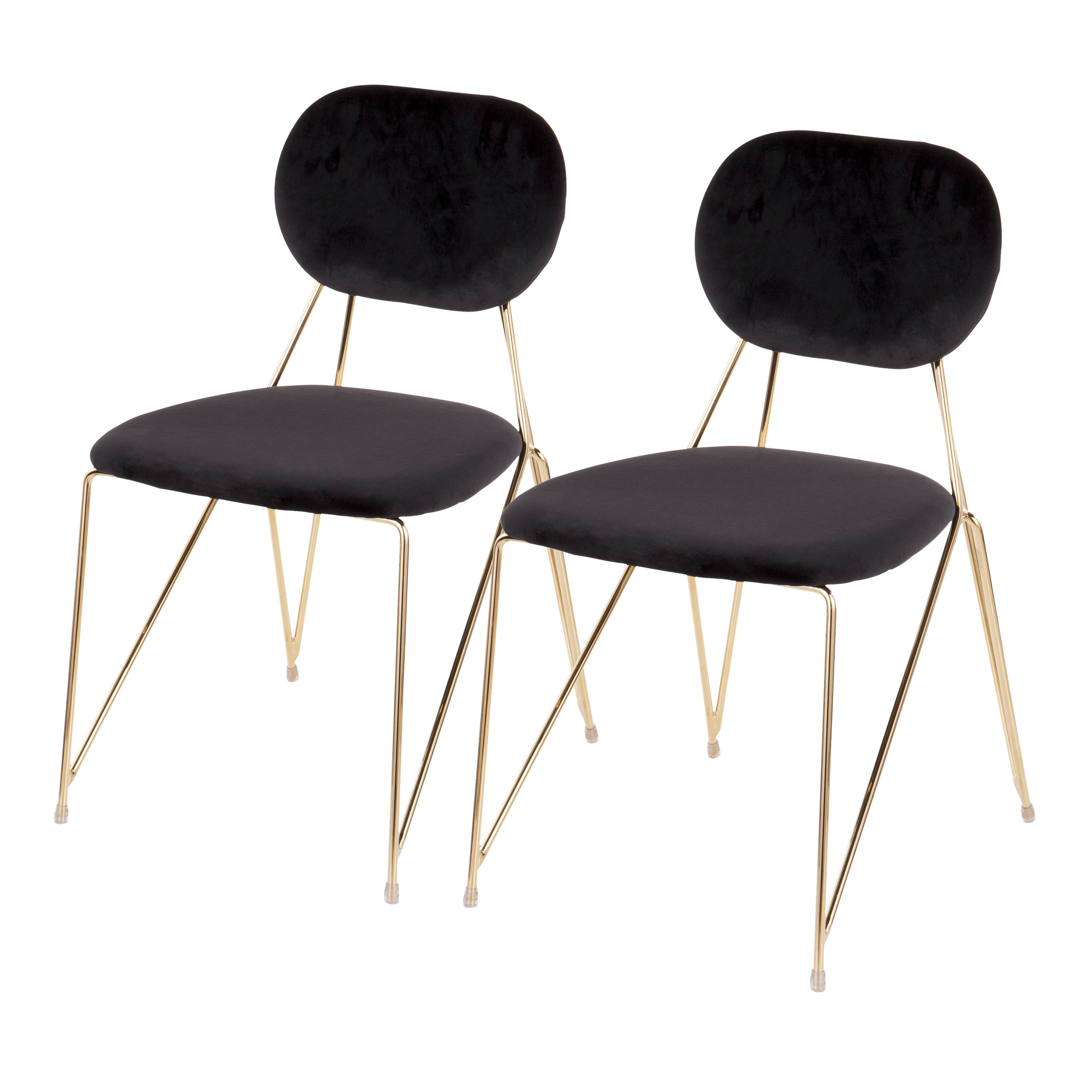 Favorite 2 Lumisource Gwen Gold Black Chairs (View 13 of 20)