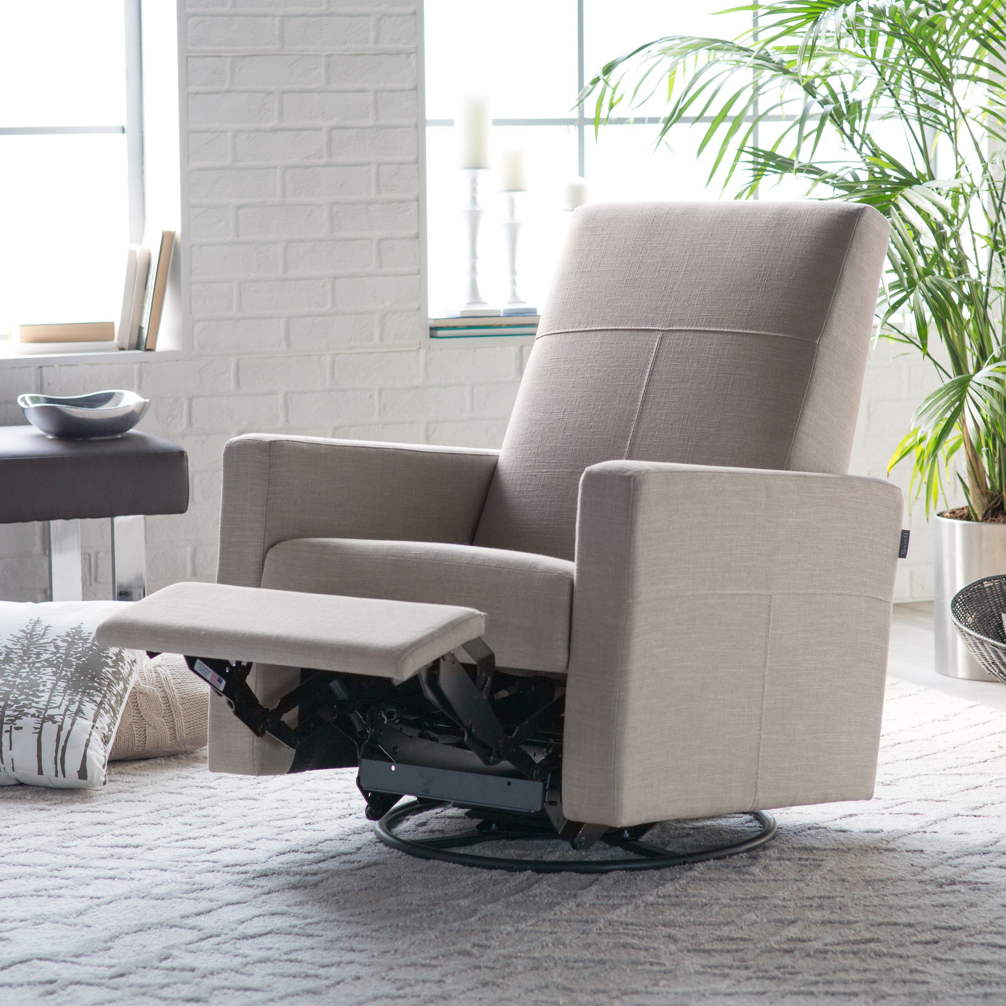 Favorite Furniture: Magnificent Walmart Glider Rocker For Fabulous Home Regarding Abbey Swivel Glider Recliners (View 15 of 20)