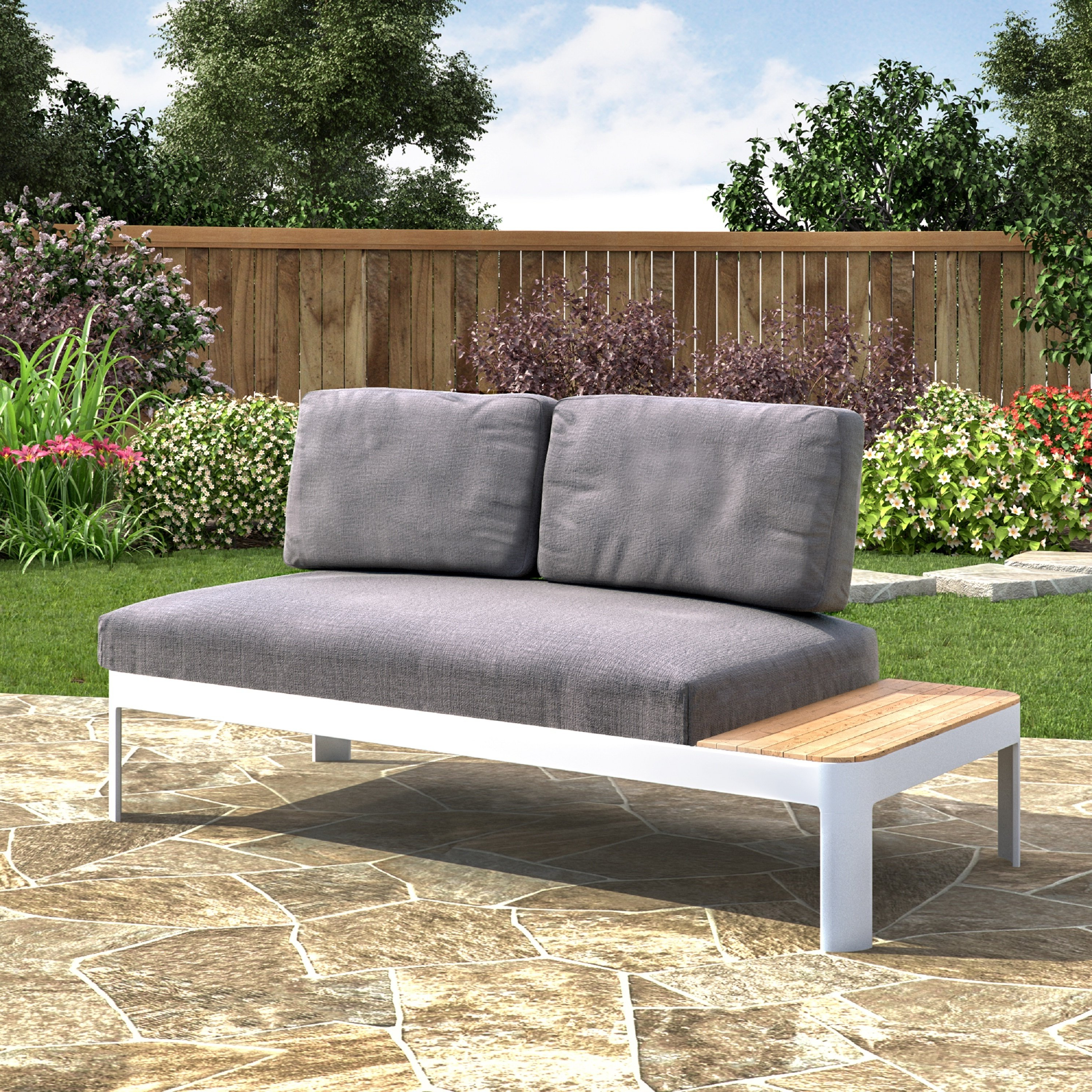Favorite Harper Down Oversized Sofa Chairs Intended For Shop Harper Blvd Camelia Aluminum Outdoor Convertible Lounger (View 3 of 20)