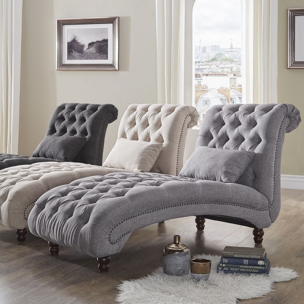 Favorite Maddox Oversized Sofa Chairs With Knightsbridge Tufted Oversized Chaise Loungesignal Hills (View 19 of 20)