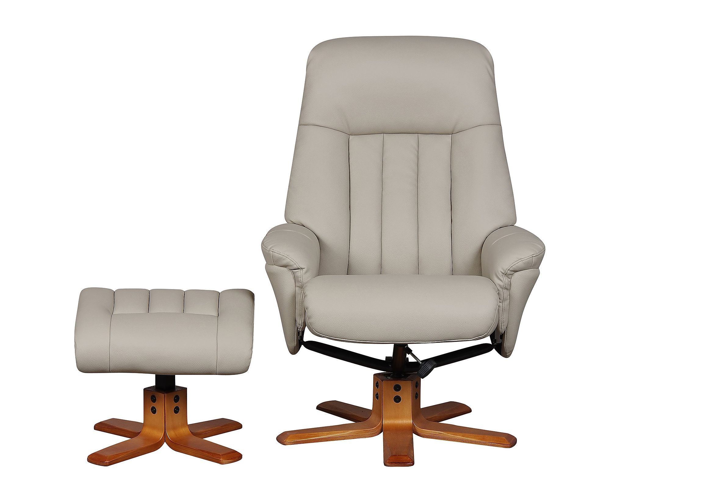 Favorite Probably Outrageous Nice Leather Reclining Armchair And Footstool In Amala Bone Leather Reclining Swivel Chairs (View 13 of 20)