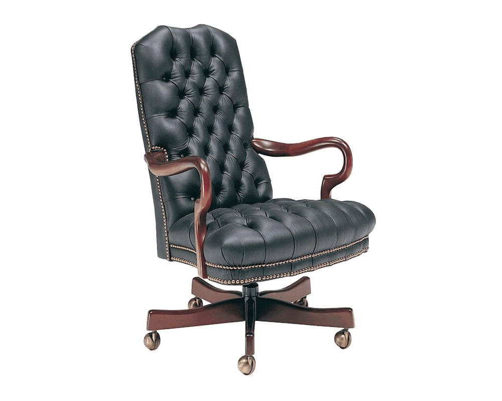 Favorite Tufted Leather Swivel Office Chair 806 St Classic Leather Throughout Chocolate Brown Leather Tufted Swivel Chairs (View 6 of 20)
