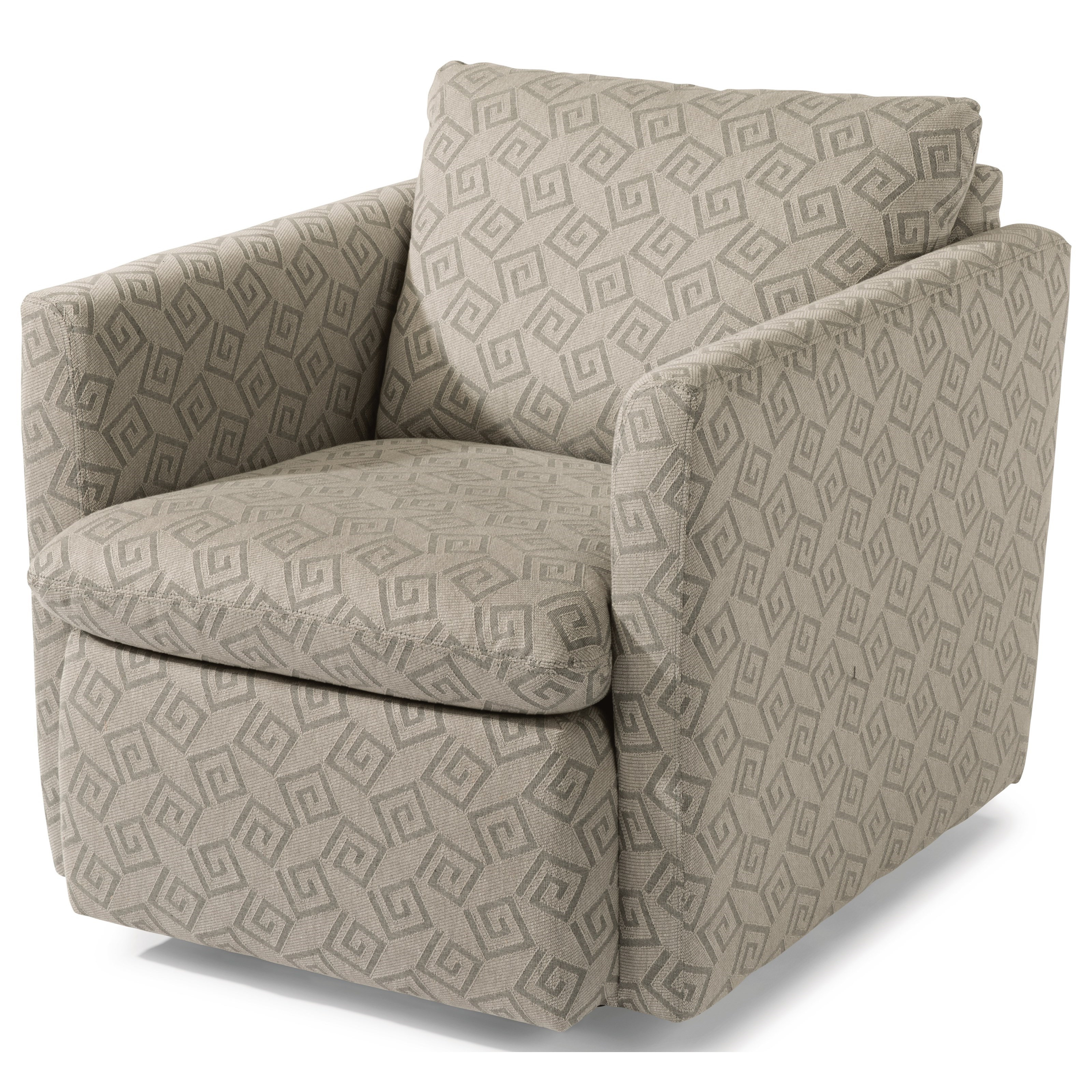 Flexsteel Kendall 7934 11 Contemporary Swivel Chair With Flare Throughout Best And Newest Umber Grey Swivel Accent Chairs (View 4 of 20)