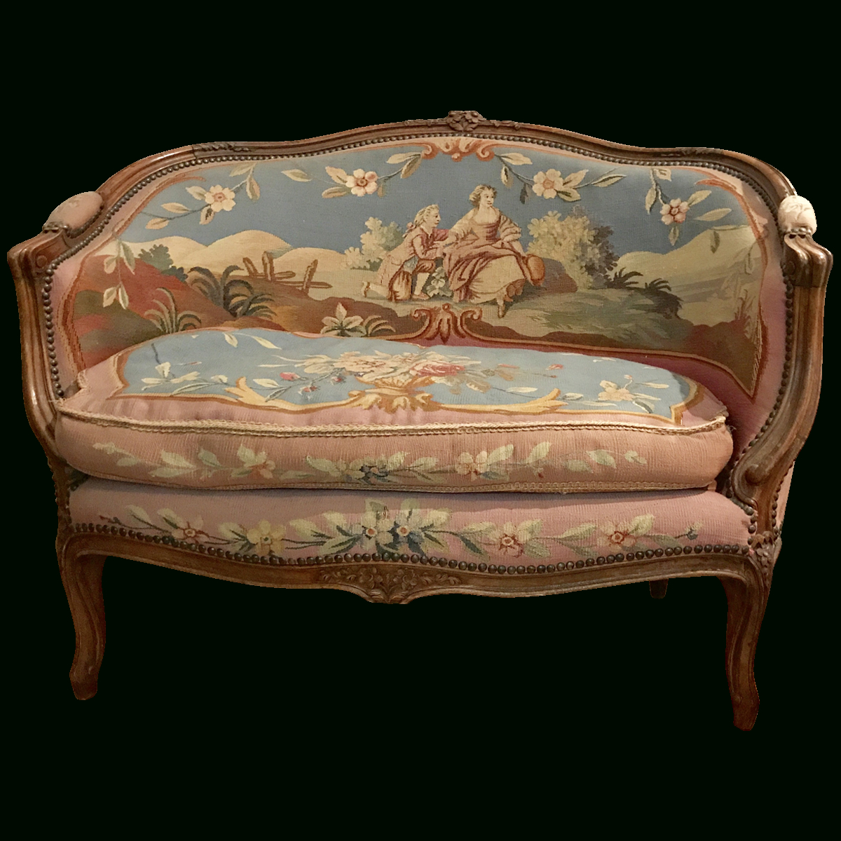 French Tapestry Upholstered Settee In 2018 (Gallery 10 of 20)