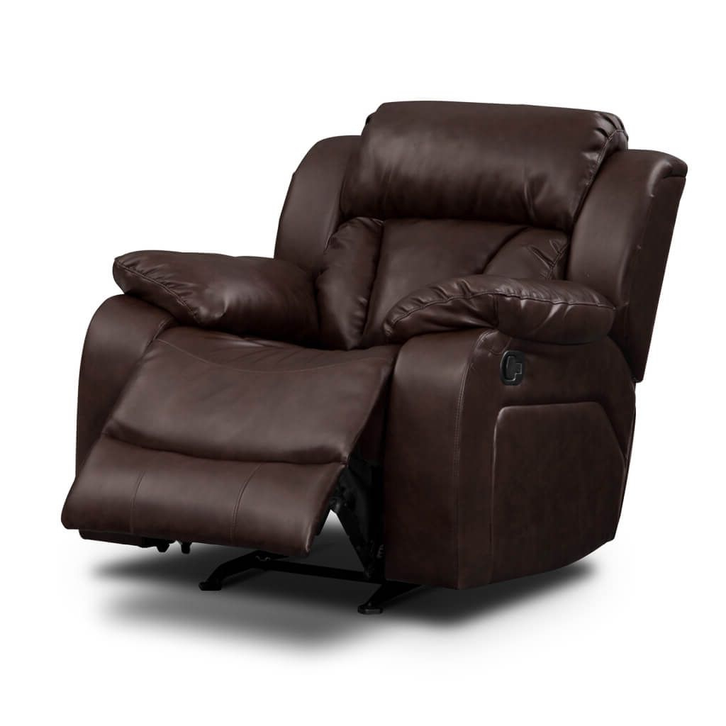 Furniture: Classy Rocker Recliner Chair Ideas With Espresso Leather With Recent Espresso Leather Swivel Chairs (View 6 of 20)