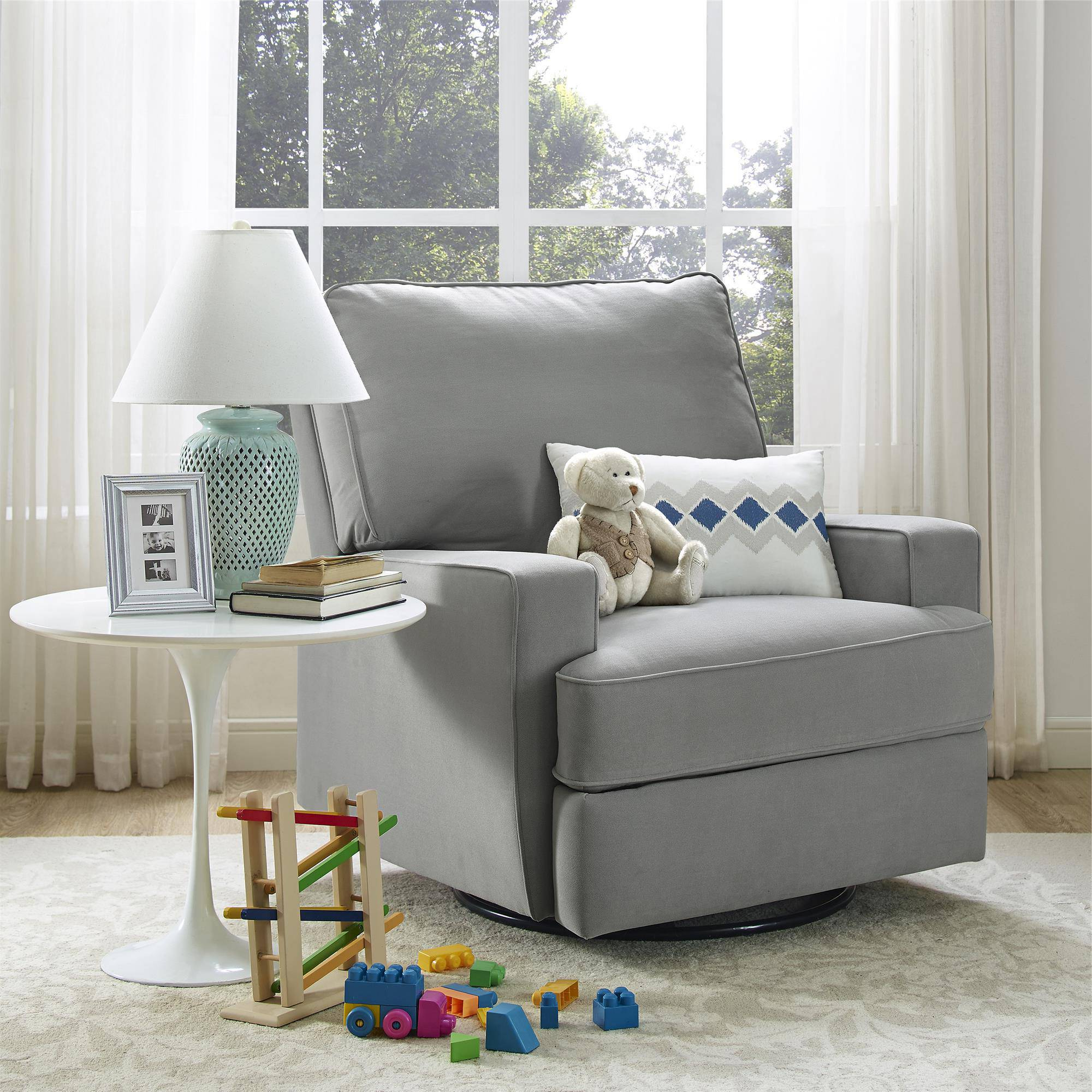 Furniture: Magnificent Walmart Glider Rocker For Fabulous Home For Recent Abbey Swivel Glider Recliners (View 14 of 20)
