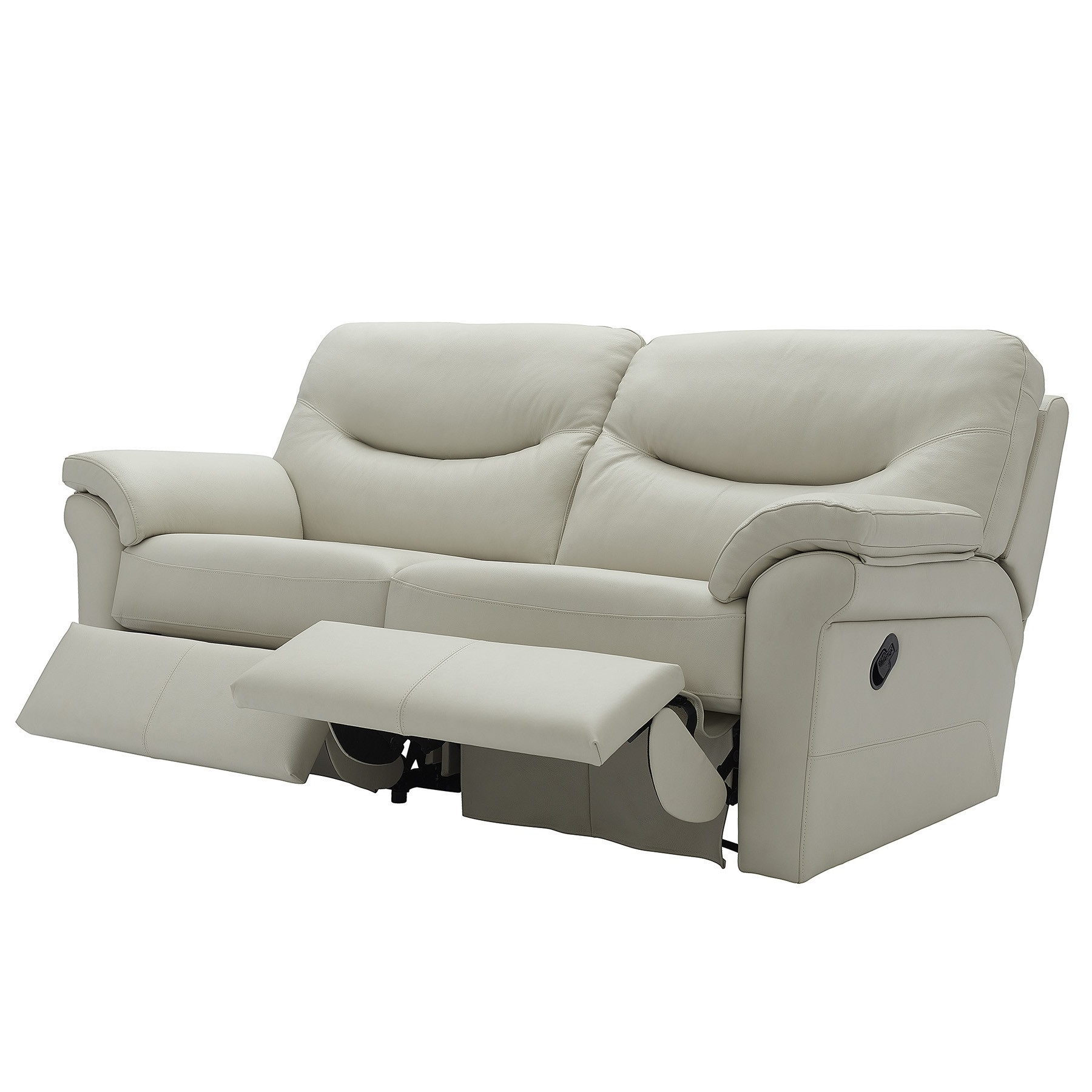 G Plan Washington Leather 3 Seater Electric Double Recliner Sofa Intended For Fashionable Recliner Sofa Chairs (View 5 of 20)