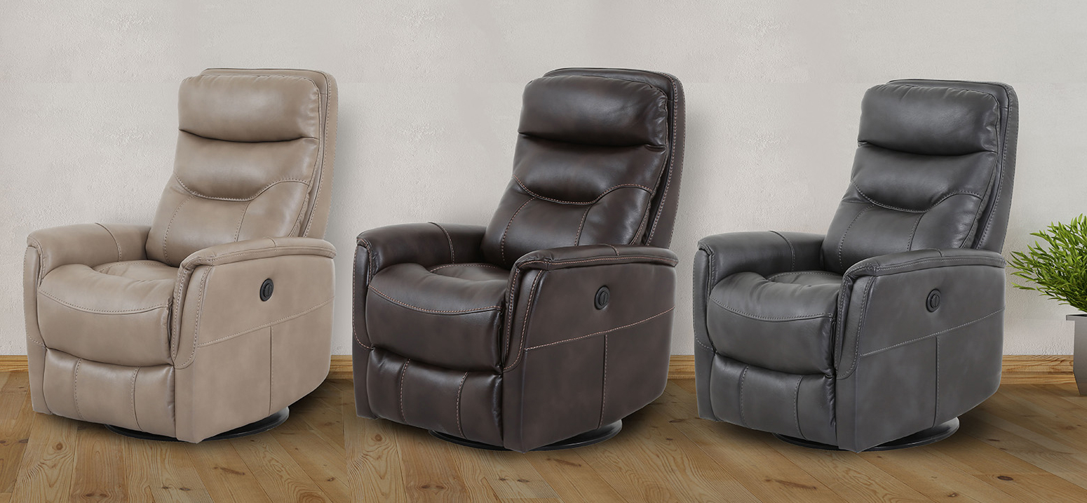 Gannon Truffle Power Swivel Recliners With Regard To Most Up To Date Recliners (View 4 of 20)