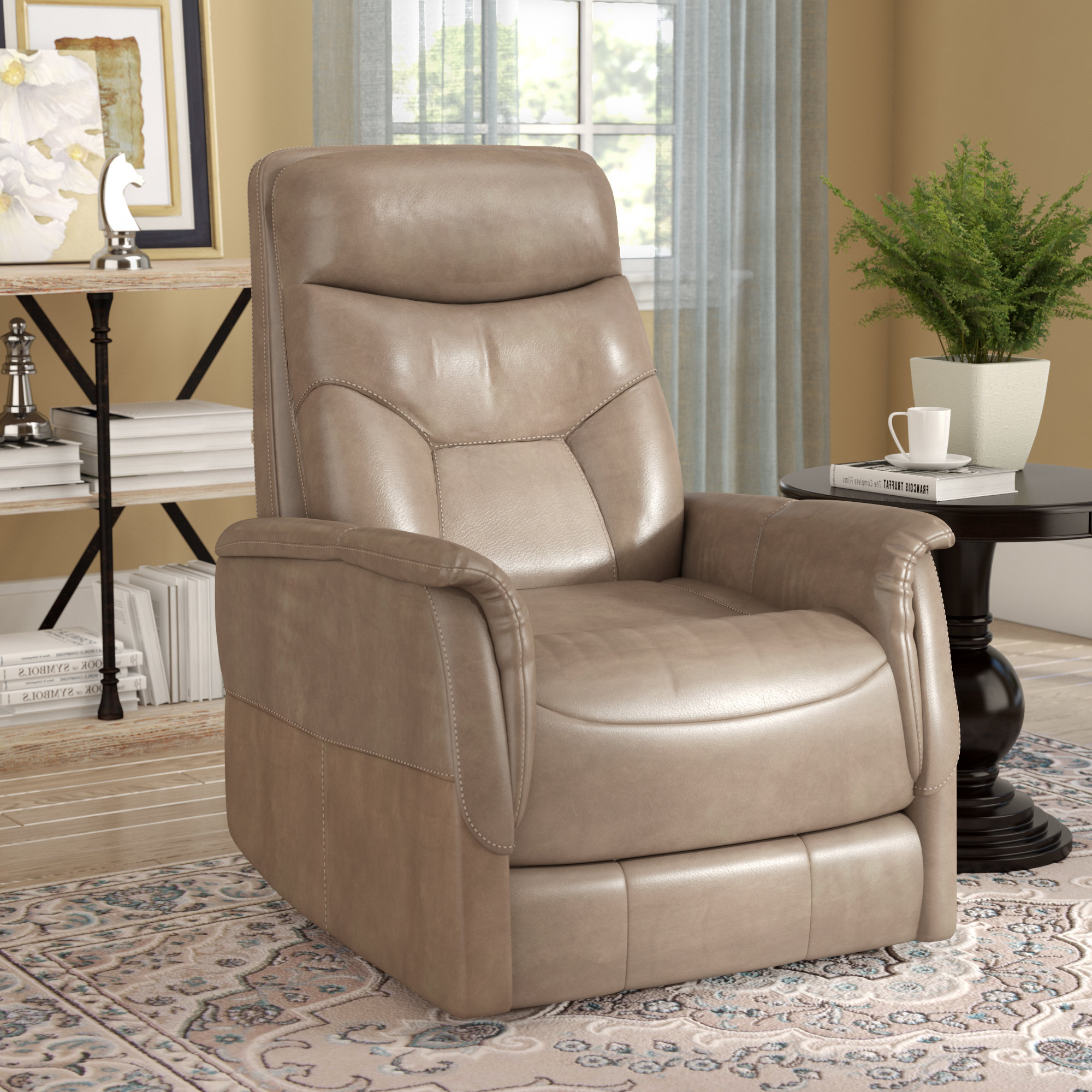 Gannon Truffle Power Swivel Recliners Within Trendy Three Posts Haliburton Power Glider Swivel Recliner & Reviews (View 6 of 20)