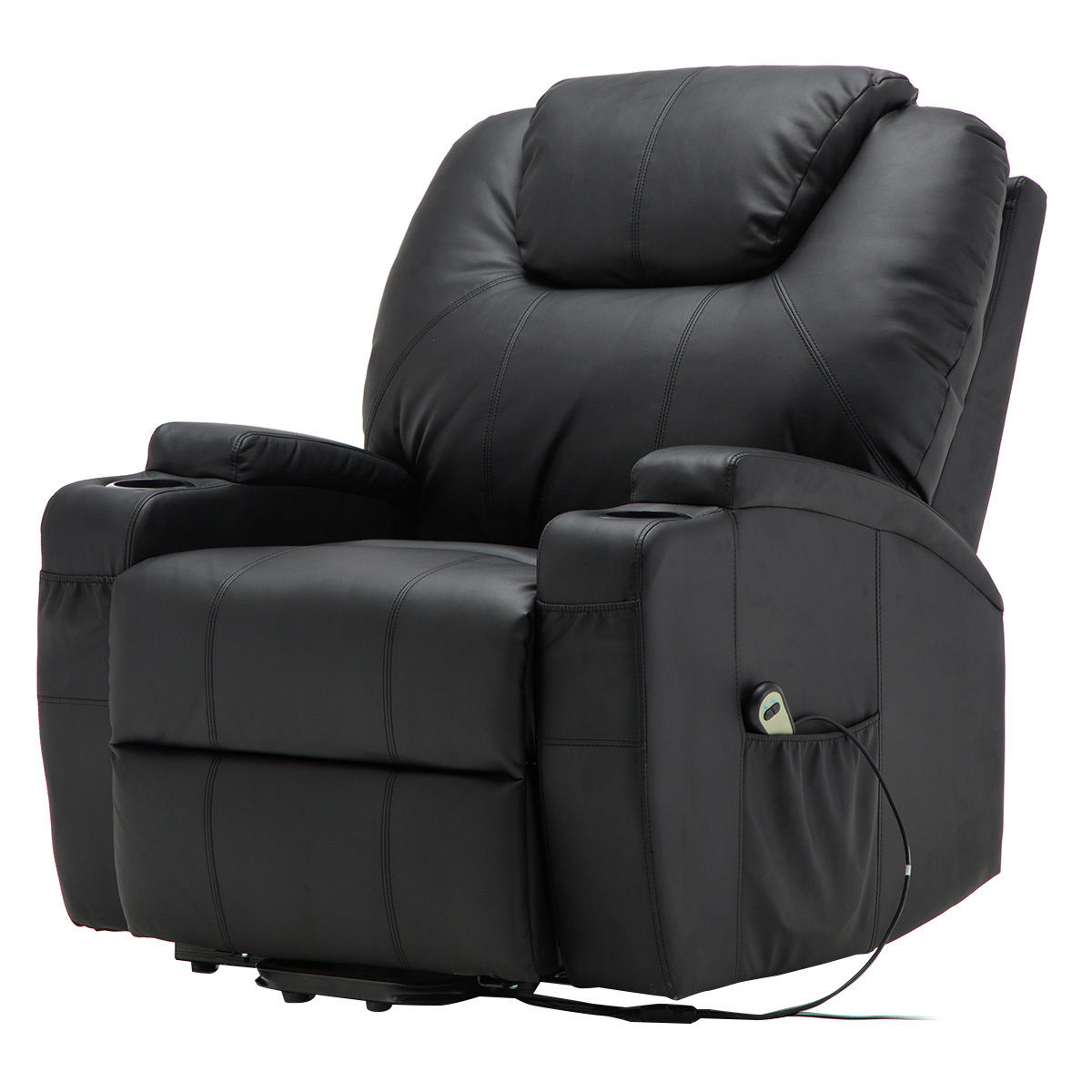 Giantex Electric Lift Power Recliner Chair Heated Massage Sofa Throughout Preferred Sofa Chair Recliner (View 7 of 20)