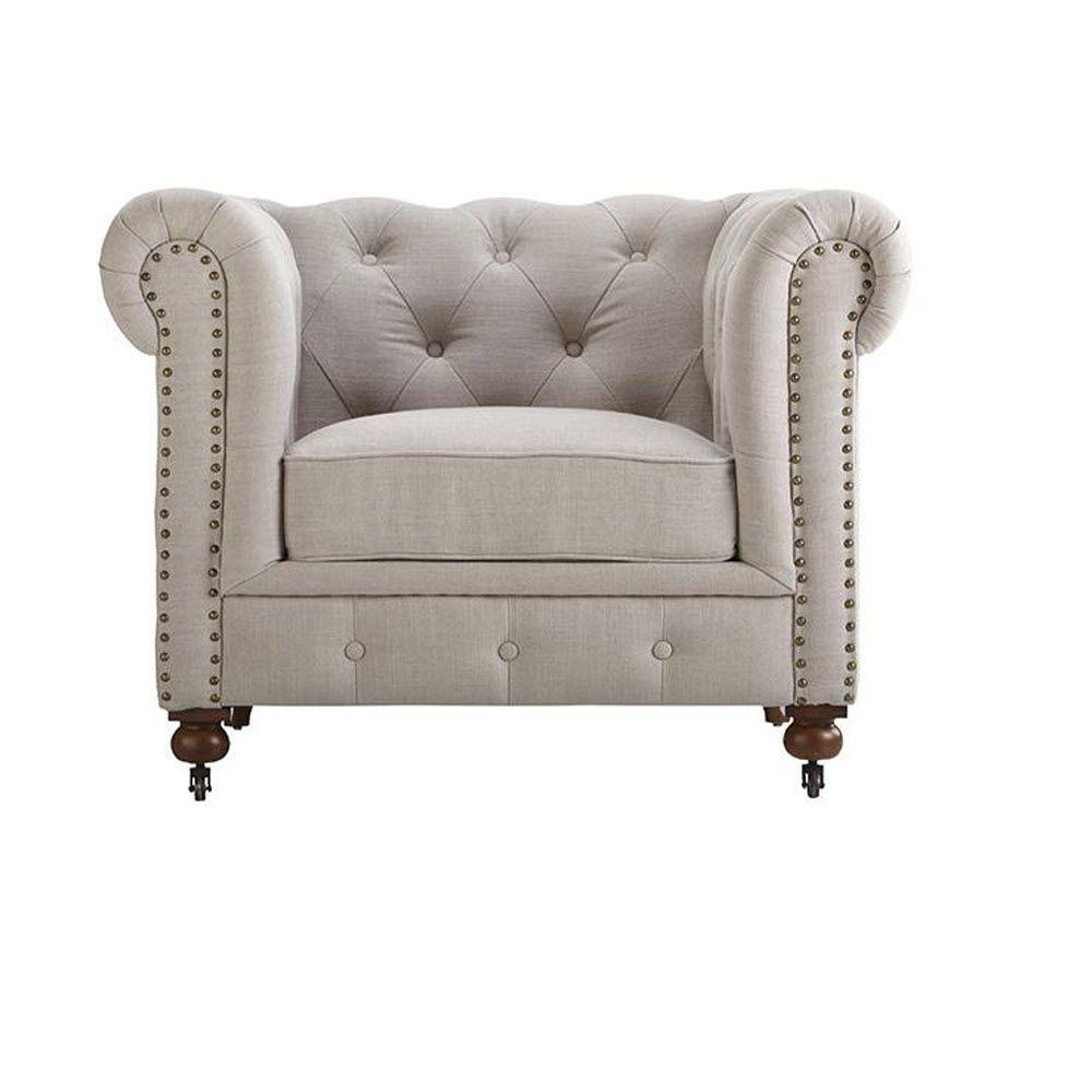 Gordon Arm Sofa Chairs With Regard To Most Popular Home Decorators Collection Gordon Natural Linen Arm Chair  (View 6 of 20)