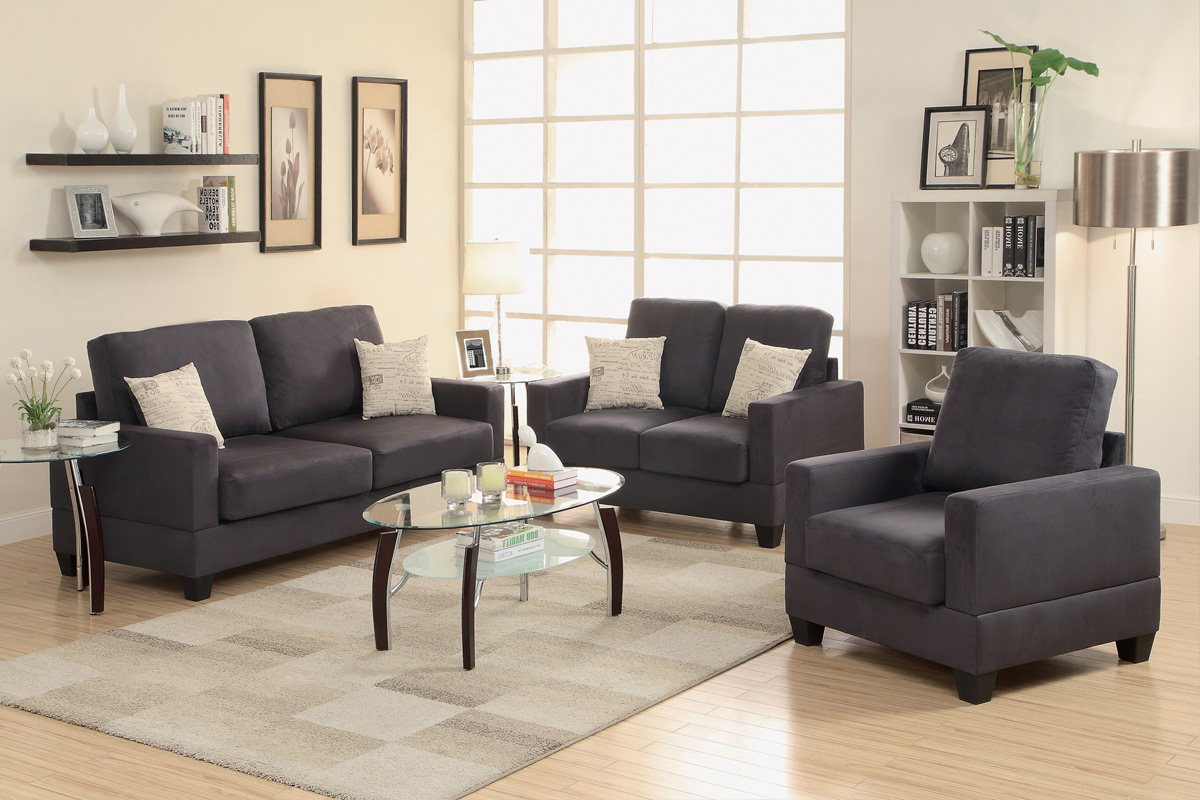 Grey Fabric Sofa Loveseat And Chair Set – Steal A Sofa Furniture Intended For Trendy Sofa Loveseat And Chair Set (Gallery 4 of 20)