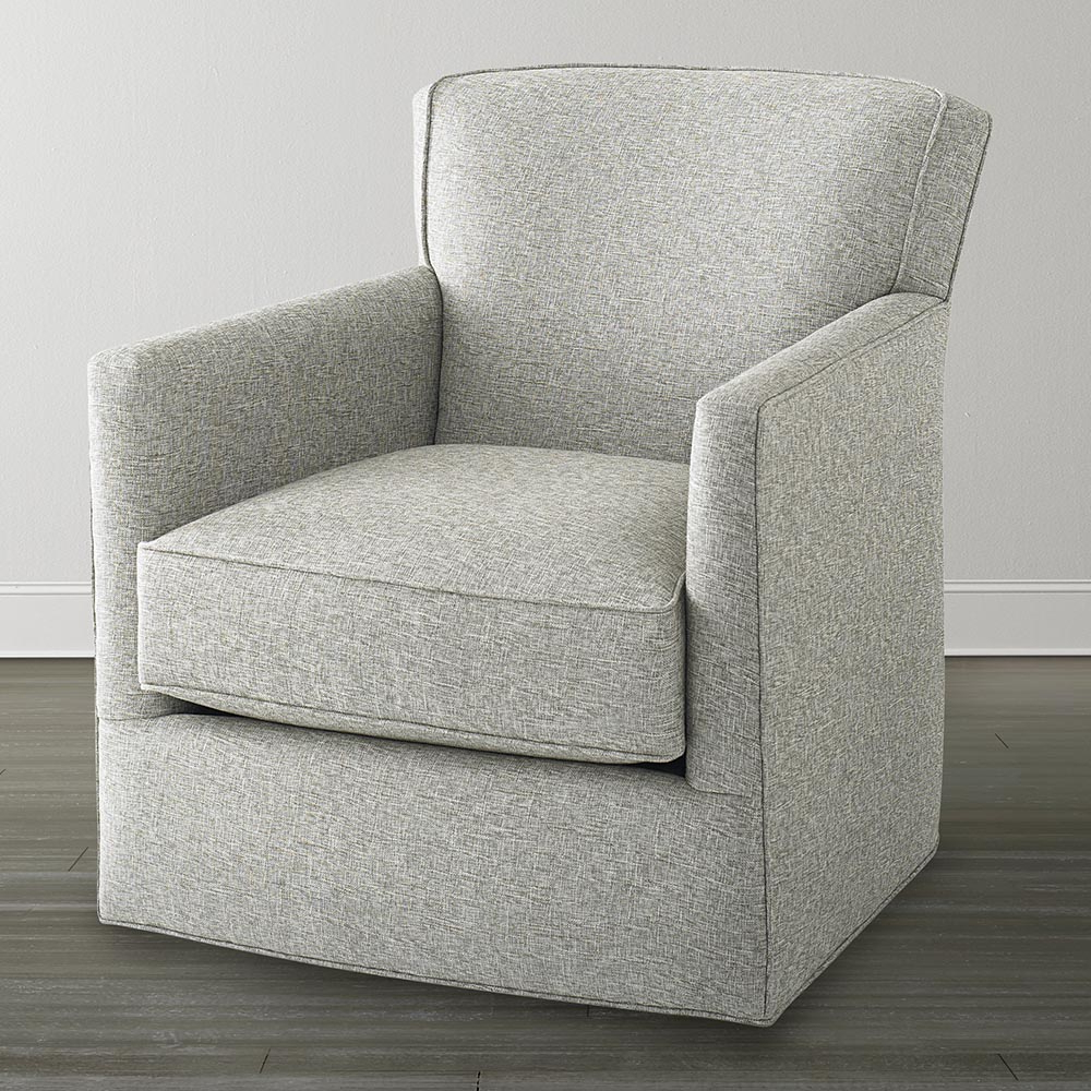 Harbor Grey Swivel Accent Chairs Intended For Most Recent Off White Swivel Glider Chair (Gallery 7 of 20)