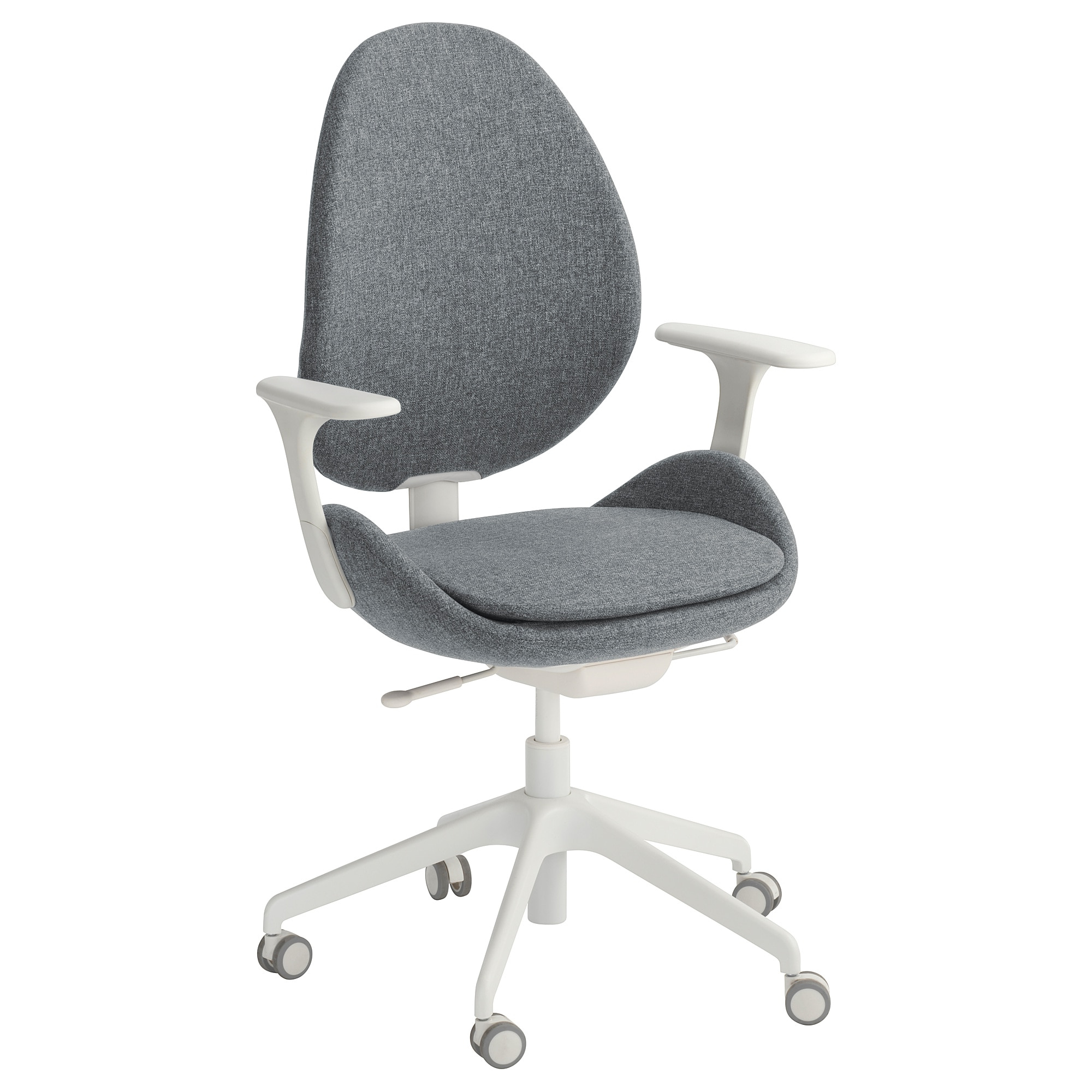 Hattefjäll Swivel Chair With Armrests Gunnared Medium Grey/white – Ikea With Most Recently Released Grey Swivel Chairs (View 18 of 20)