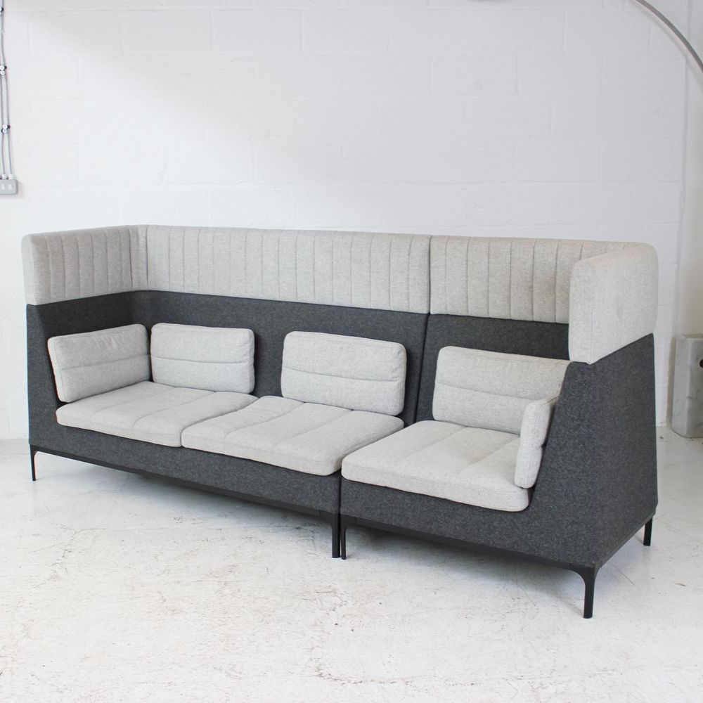 Haven Sofa Chairs For Current Allermuir Haven Sofa With Headrest (Two Tone Grey) (View 8 of 20)