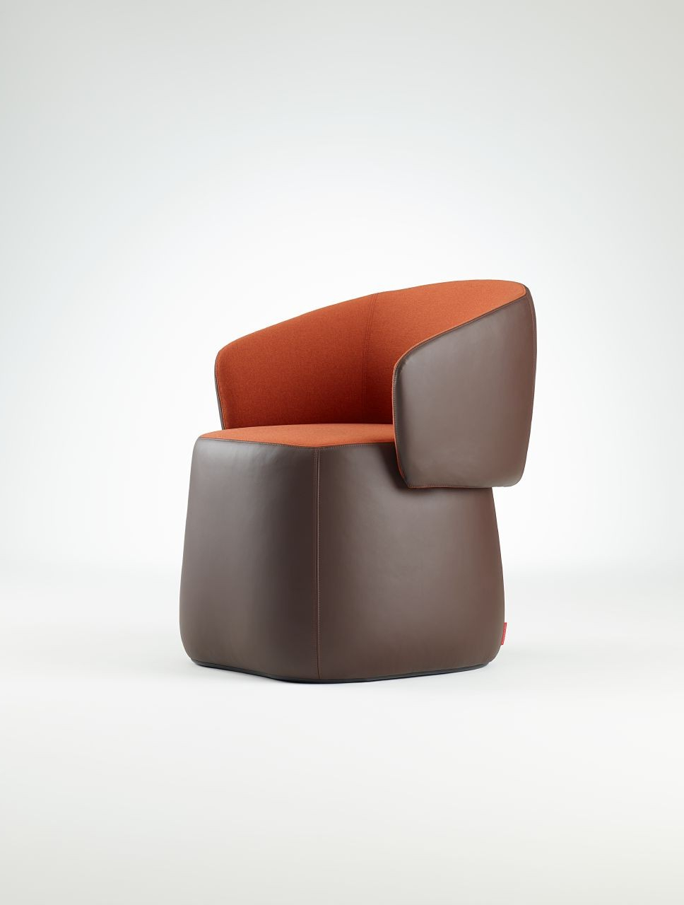 Haworth Openest Collection Chick Pouf With Back – Modern Planet In Current Chadwick Tomato Swivel Accent Chairs (View 3 of 20)