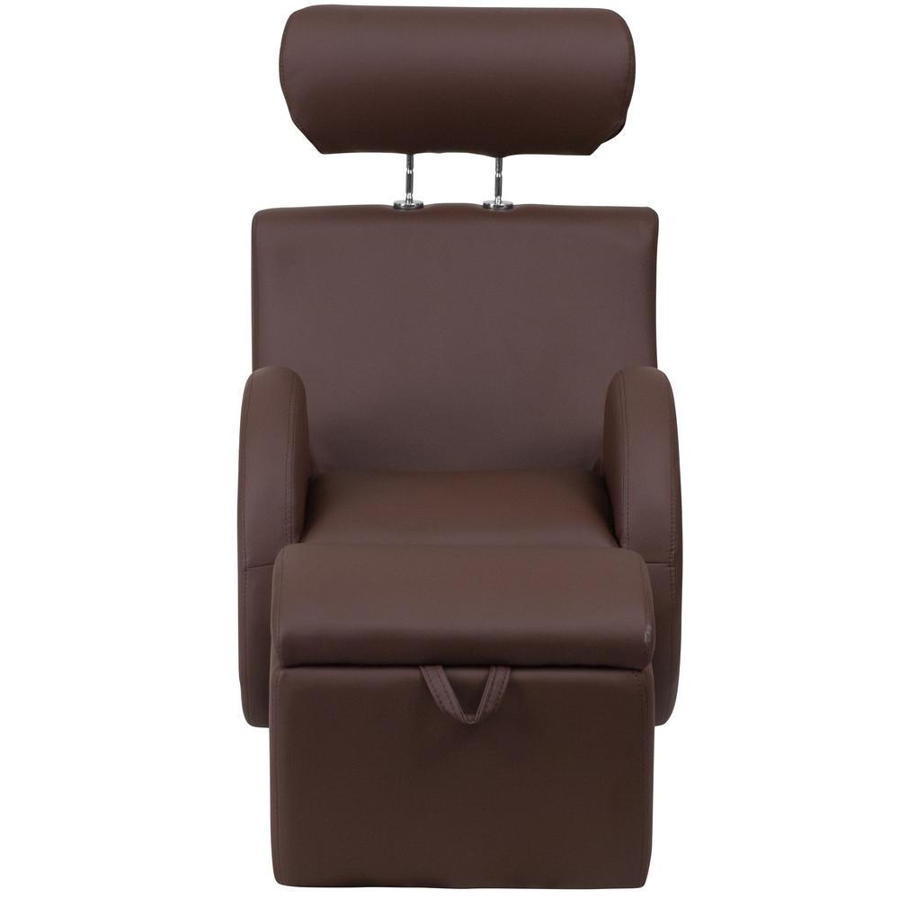 Hercules Chocolate Swivel Glider Recliners Regarding Trendy Flash Furniture Hercules Series Brown Vinyl Rocking Chair With (View 8 of 20)