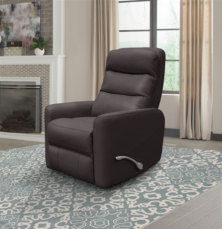 Hercules Chocolate Swivel Glider Recliners Throughout Most Current Hercules Glider Swivel Recliner With Articulating Headrest In (View 2 of 20)