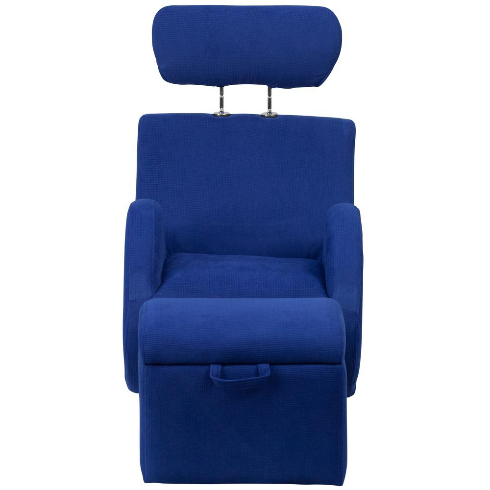 Hercules Grey Swivel Glider Recliners Pertaining To Best And Newest Flash Furniture Hercules Series Blue Fabric Rocking Chair With (View 5 of 20)