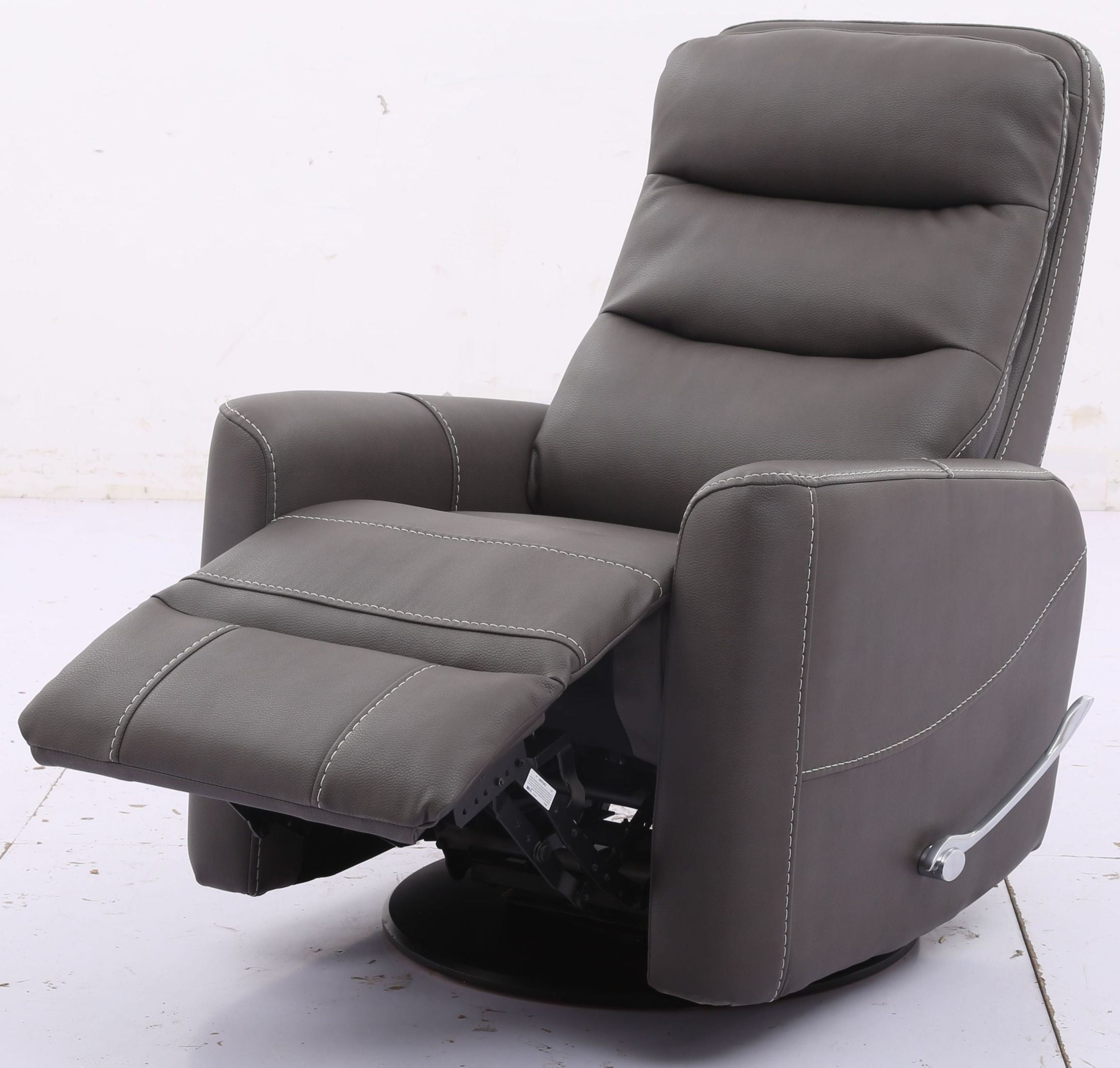Hercules Haze Swivel Glider Recliner With Articulating Headrest From Regarding Well Known Hercules Oyster Swivel Glider Recliners (View 15 of 20)