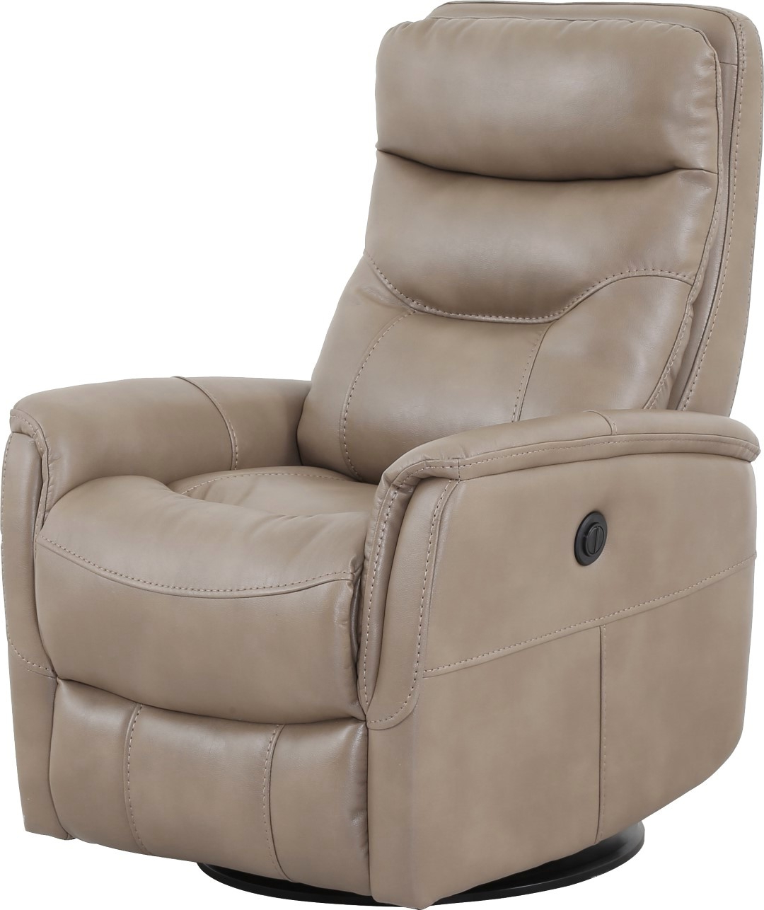 Hercules Oyster Swivel Glider Recliners For Well Known Gemini Linen Swivel Glider Power Recliner With Articulating Headrest (View 9 of 20)