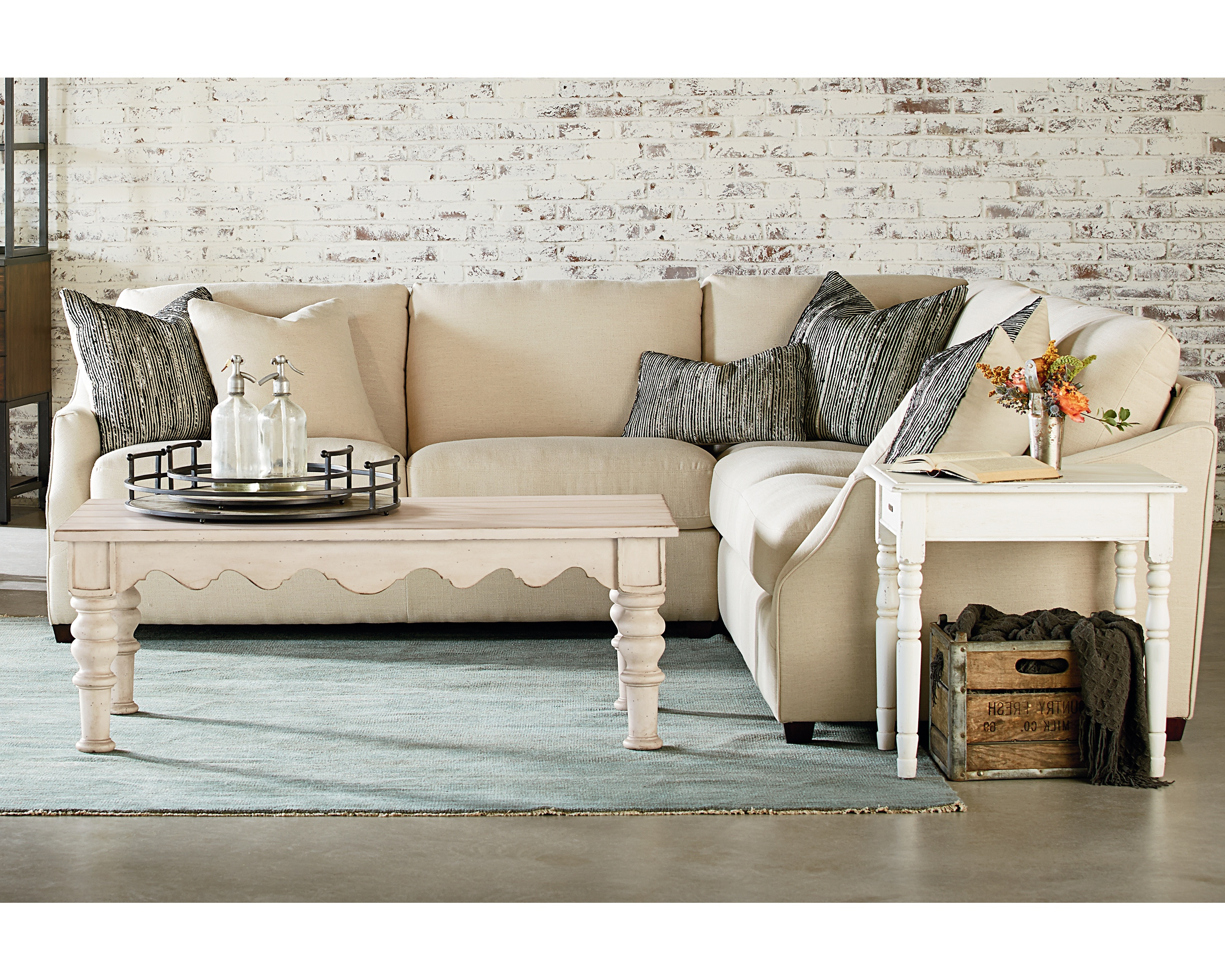 Homestead Sectional – Magnolia Home In Famous Magnolia Home Homestead Sofa Chairs By Joanna Gaines (View 6 of 20)
