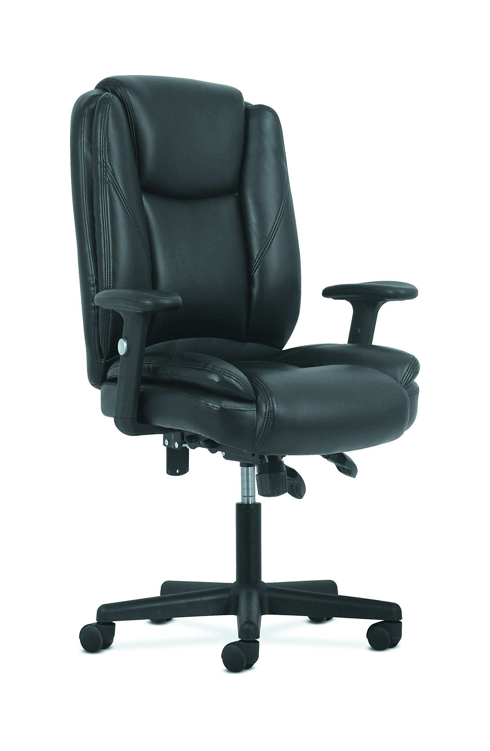 Hon Sadie Highback Leather Office/computer Chair Ergonomic Intended For Famous Sadie Ii Swivel Accent Chairs (View 18 of 20)
