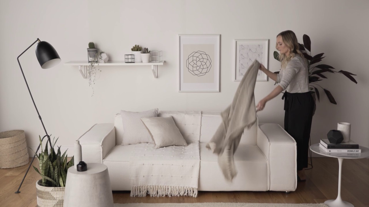 How To Style Your Living Space With Cushions And Throws – Youtube With Regard To Most Recent Throws For Sofas And Chairs (View 7 of 20)