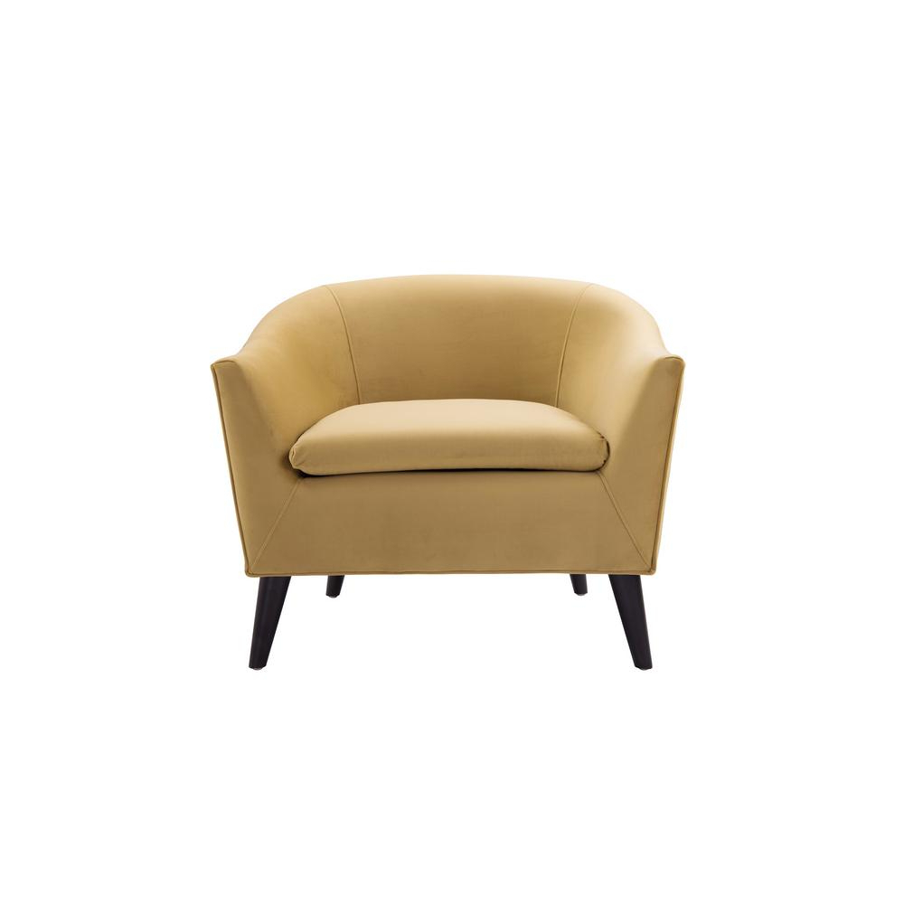 Jennifer Taylor Lia Gold Barrel Chair 63320 1 959 – The Home Depot Regarding Preferred Amari Swivel Accent Chairs (View 11 of 20)