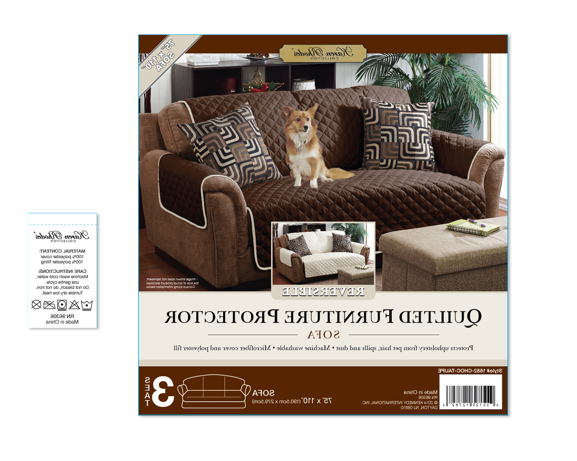 Karen Sofa Chairs For Most Recent Home Details Double Sided Sofa Furniture Protector & Cover – Walmart (View 7 of 20)