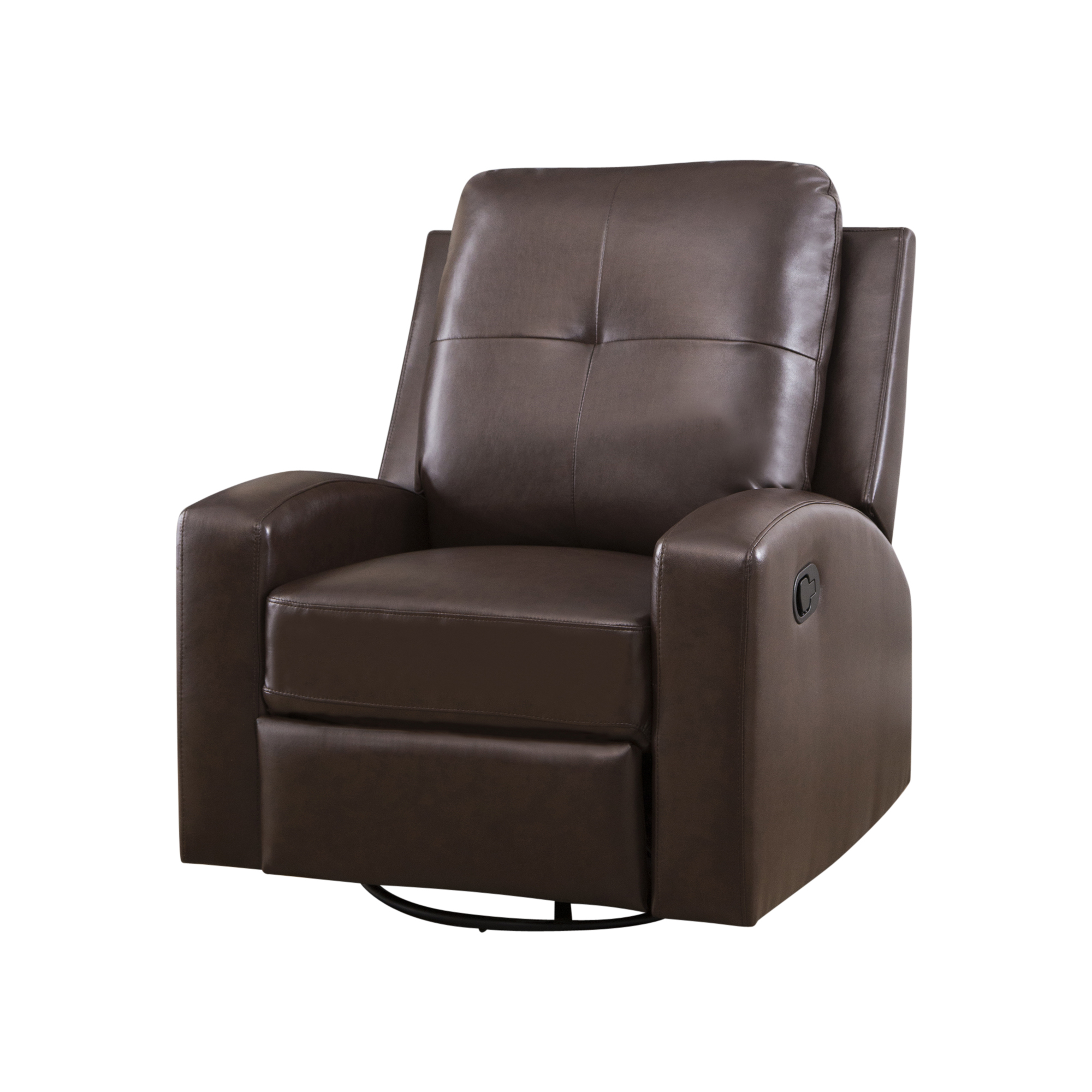 Katrina Beige Swivel Glider Chairs In Most Current Katrina Swivel Glider Recliner, Dark Brown – Walmart (View 11 of 20)