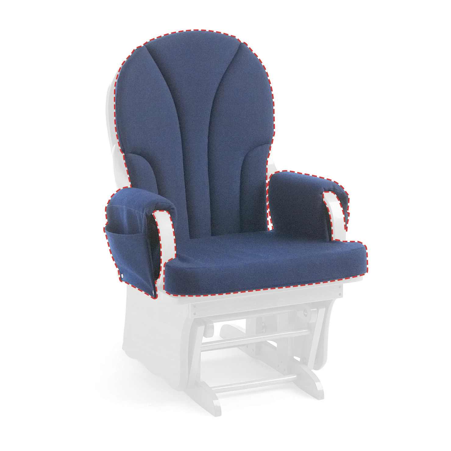 Katrina Blue Swivel Glider Chairs Intended For 2019 Foundations Replacement Cushion, Blue, For Use With Lullaby Glider (View 3 of 20)