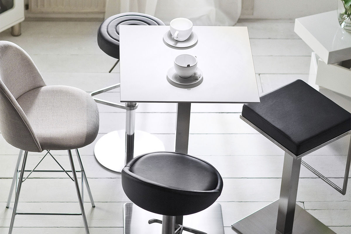 Latest Chill Swivel Chairs With Metal Base Regarding Contemporary Bar Stool / Stainless Steel / Polyurethane / Swivel (View 19 of 20)