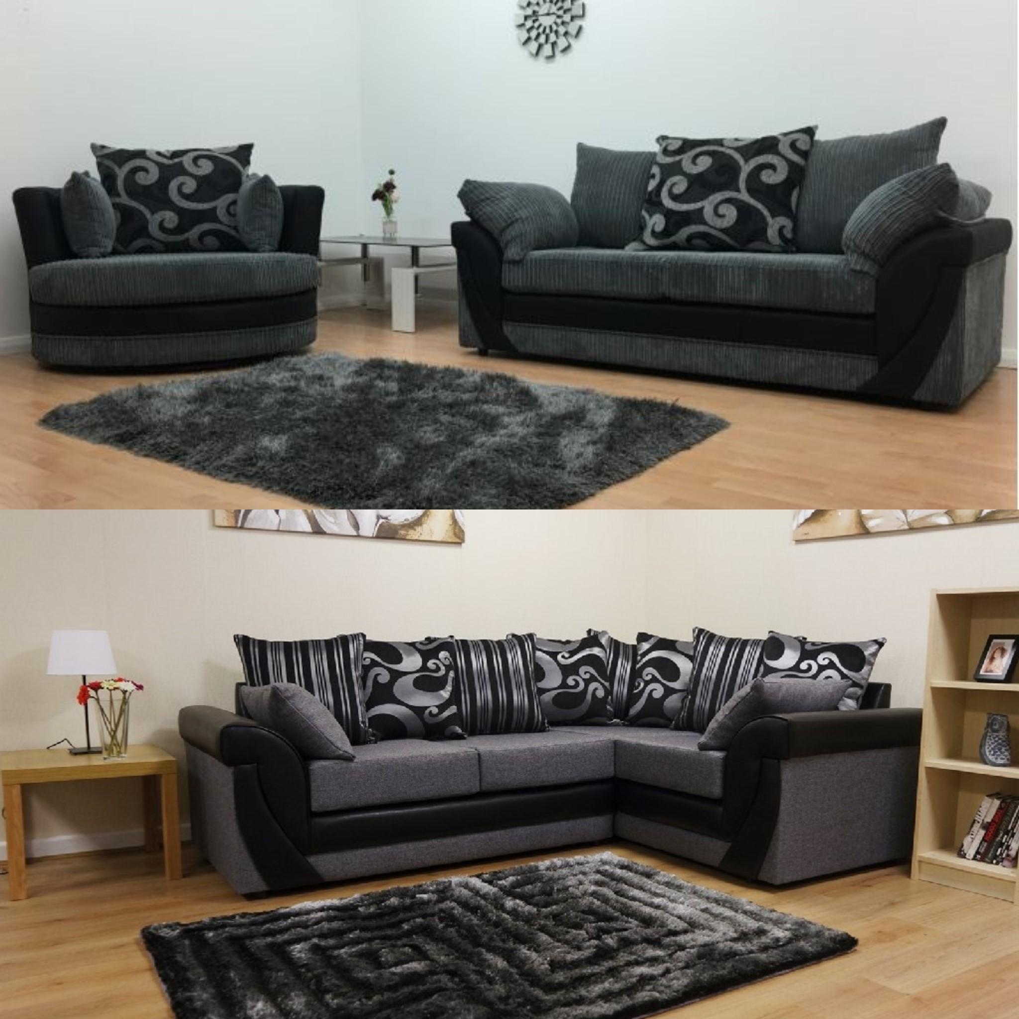 Latest Corner Sofa And Swivel Chairs In Lush Fabric Corner Sofa Set – Sofastorm (View 12 of 20)
