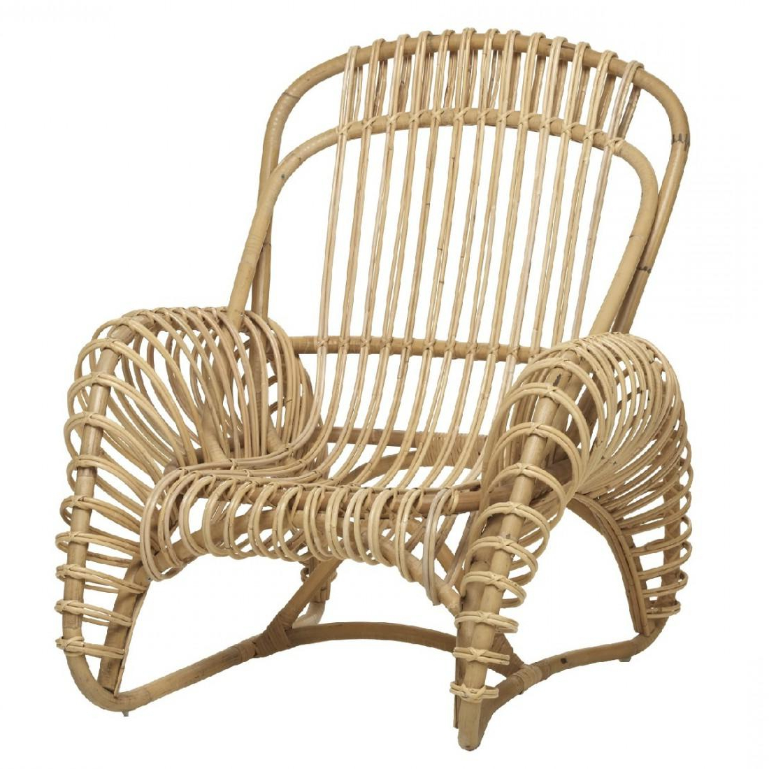 Latest Rattan Lounge Chairs – 256 For Sale At 1Stdibs In Franco Iii Fabric Swivel Rocker Recliners (Gallery 17 of 20)