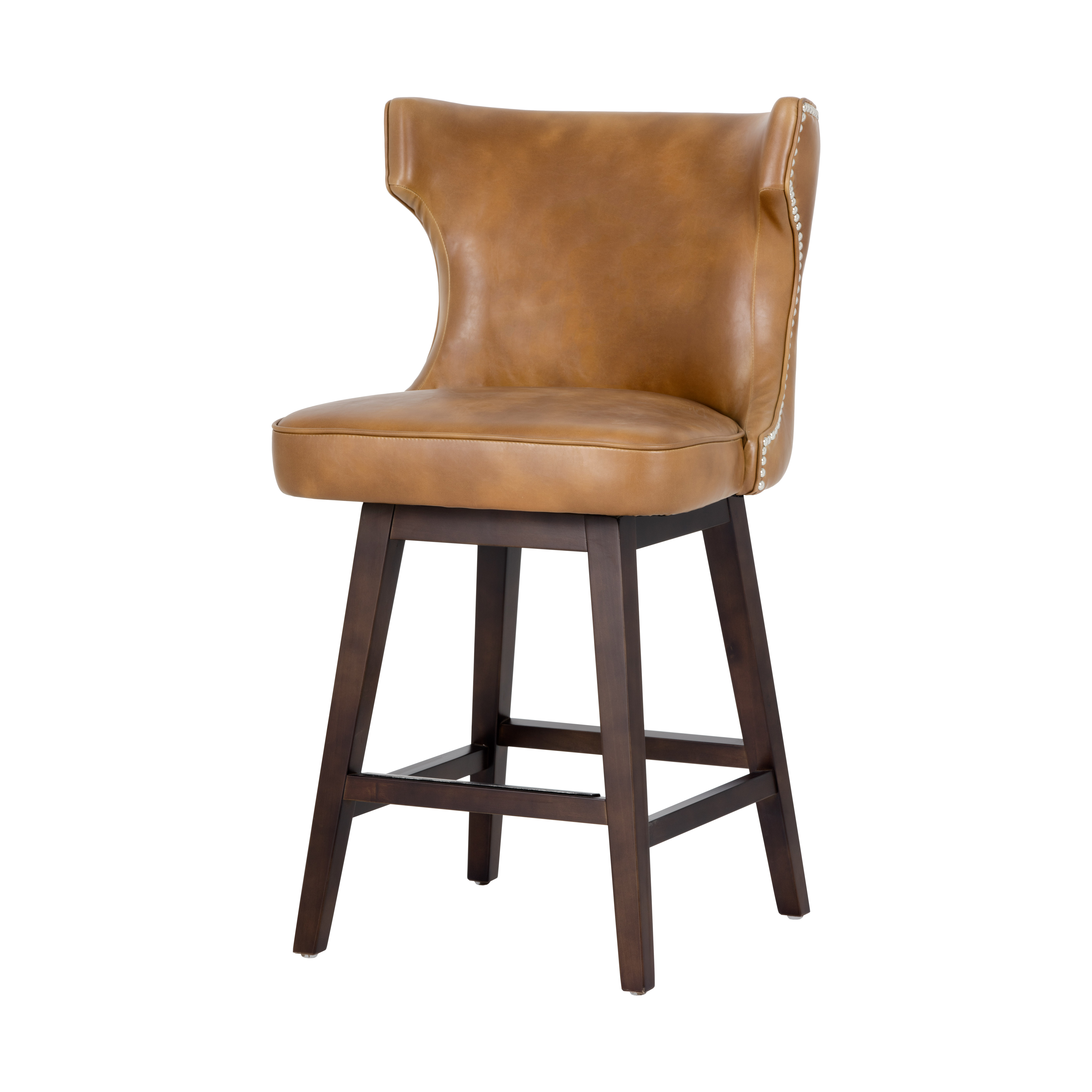 Latest Swivel Tobacco Leather Chairs In Neville Swivel Counter Stool – Tobacco Tansunpan Furniture (View 12 of 20)