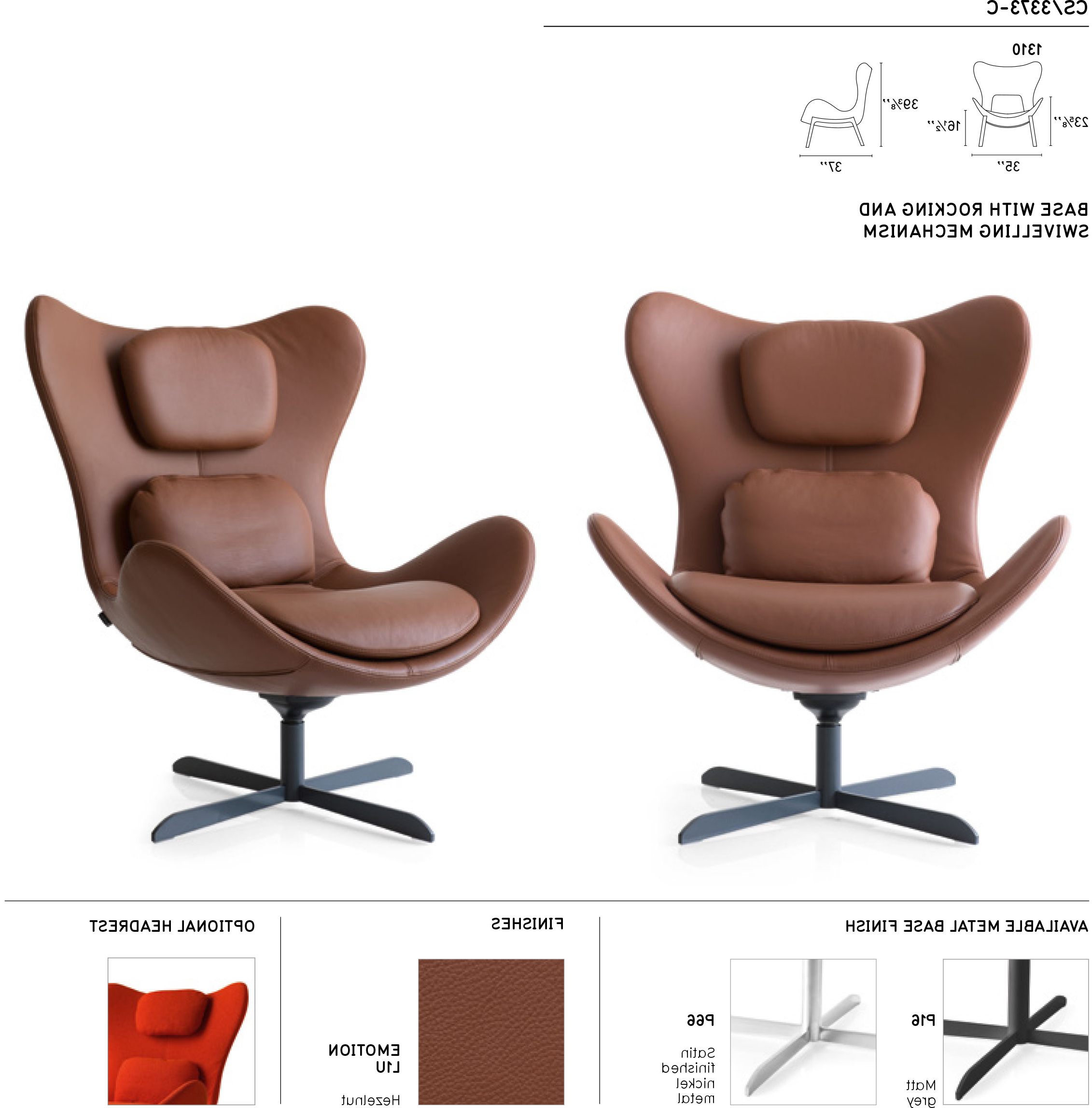 Lazy Cs/3373 C 1310 Swinging Swivel Chaircalligaris, Italy In Best And Newest Chill Swivel Chairs With Metal Base (Gallery 16 of 20)